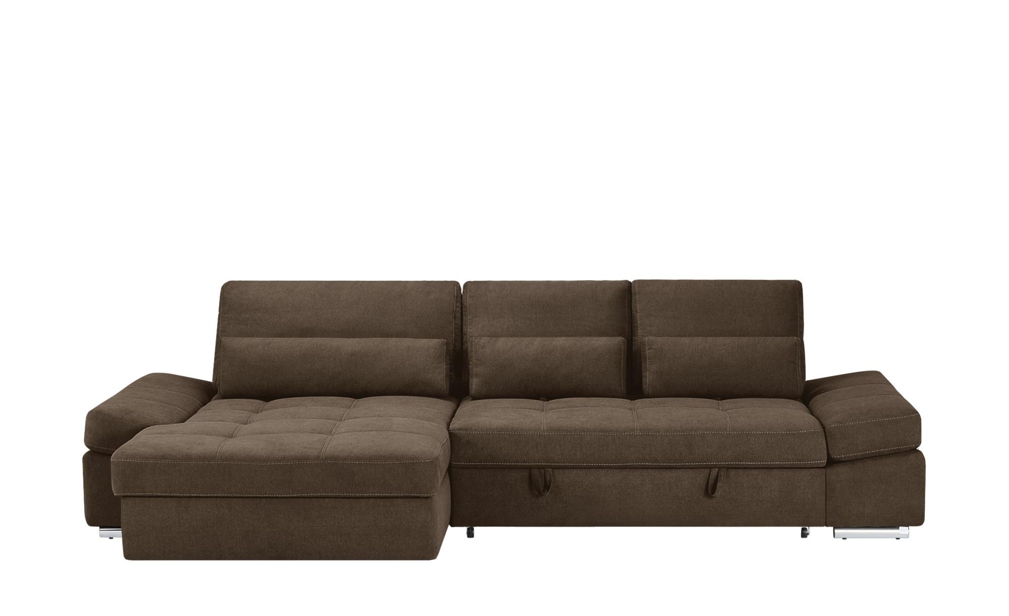 Ecksofa hudson breite h he 95 cm braun online kaufen bei for Ecksofa breite 200 cm