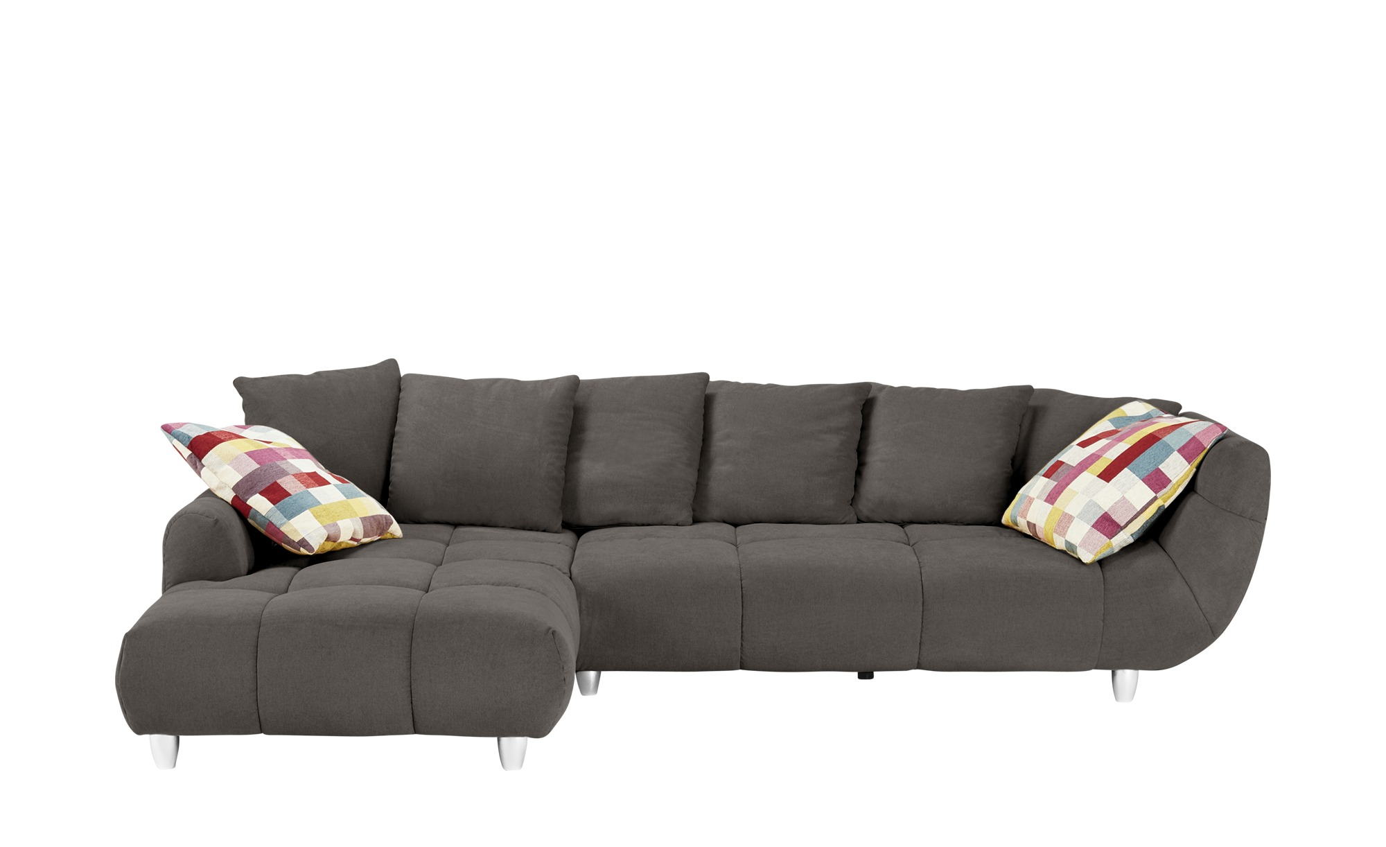 Ecksofa imke breite h he 90 cm grau online kaufen bei woonio for Ecksofa 1 90