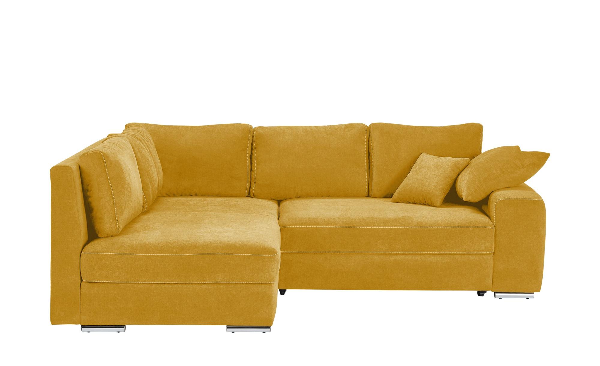 Ecksofa kaila deluxe breite h he 90 cm gelb online for Ecksofa 1 90
