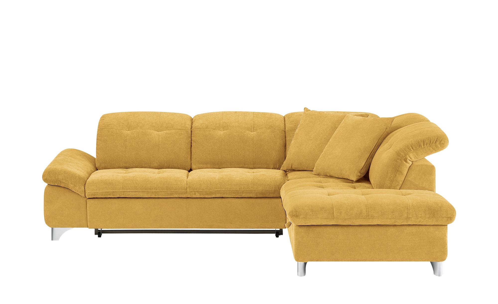 Ecksofa mira breite h he 83 cm gelb online kaufen bei woonio for Ecksofa 2 60x2 00