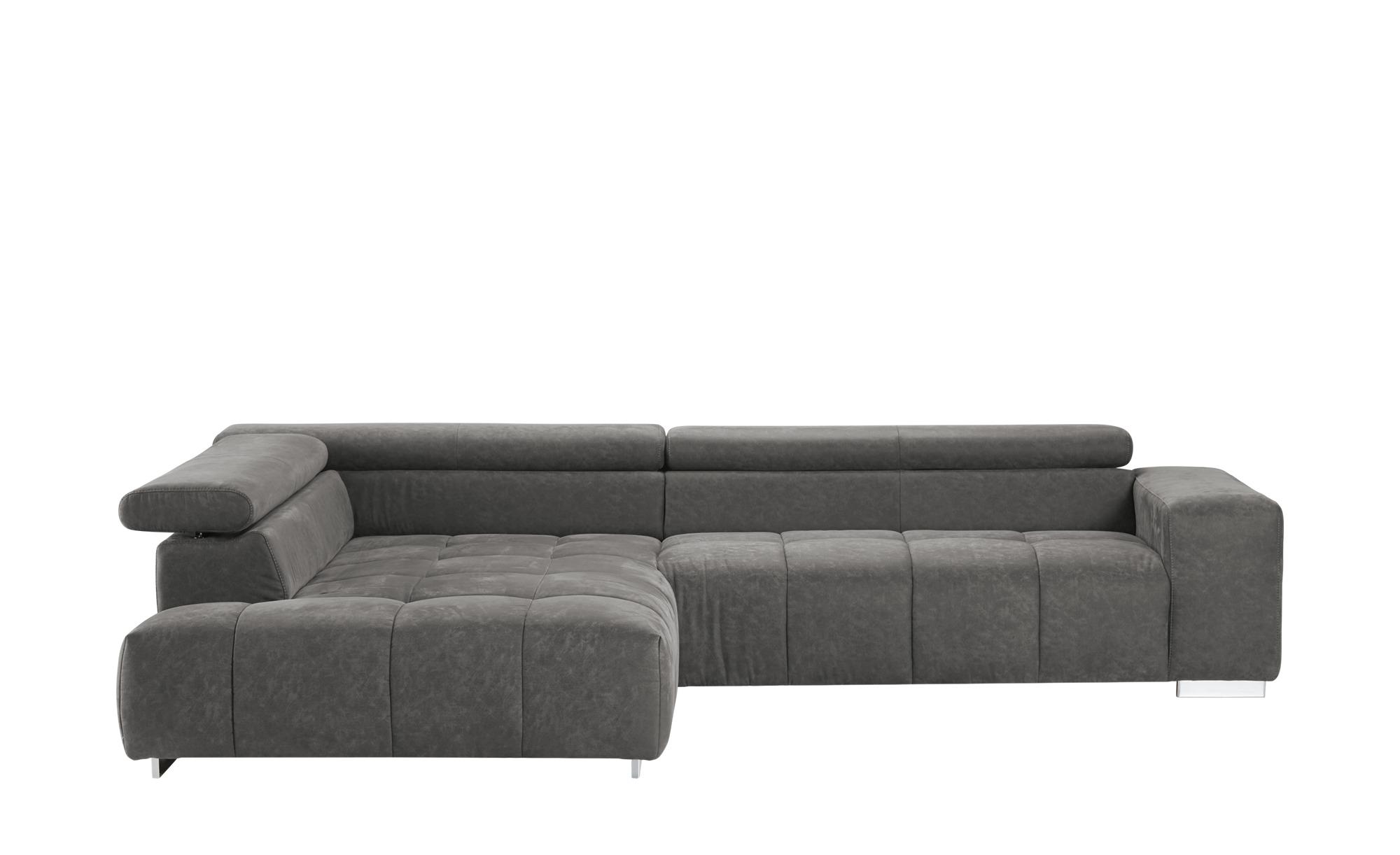 Ecksofa origo breite h he 70 cm grau online kaufen bei for Ecksofa breite 200 cm