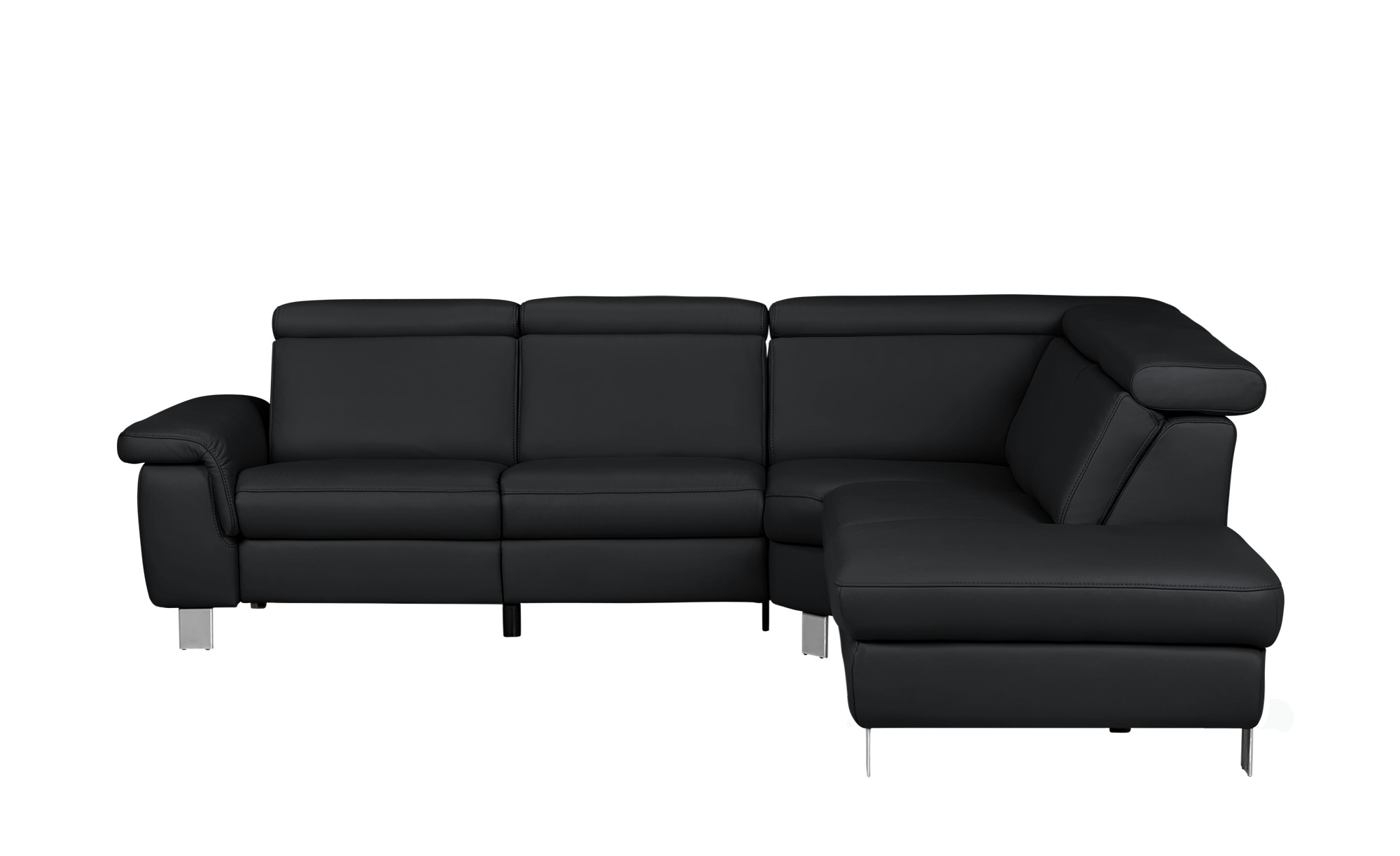 ecksofa aus leder aruba breite h he 81 cm schwarz online. Black Bedroom Furniture Sets. Home Design Ideas