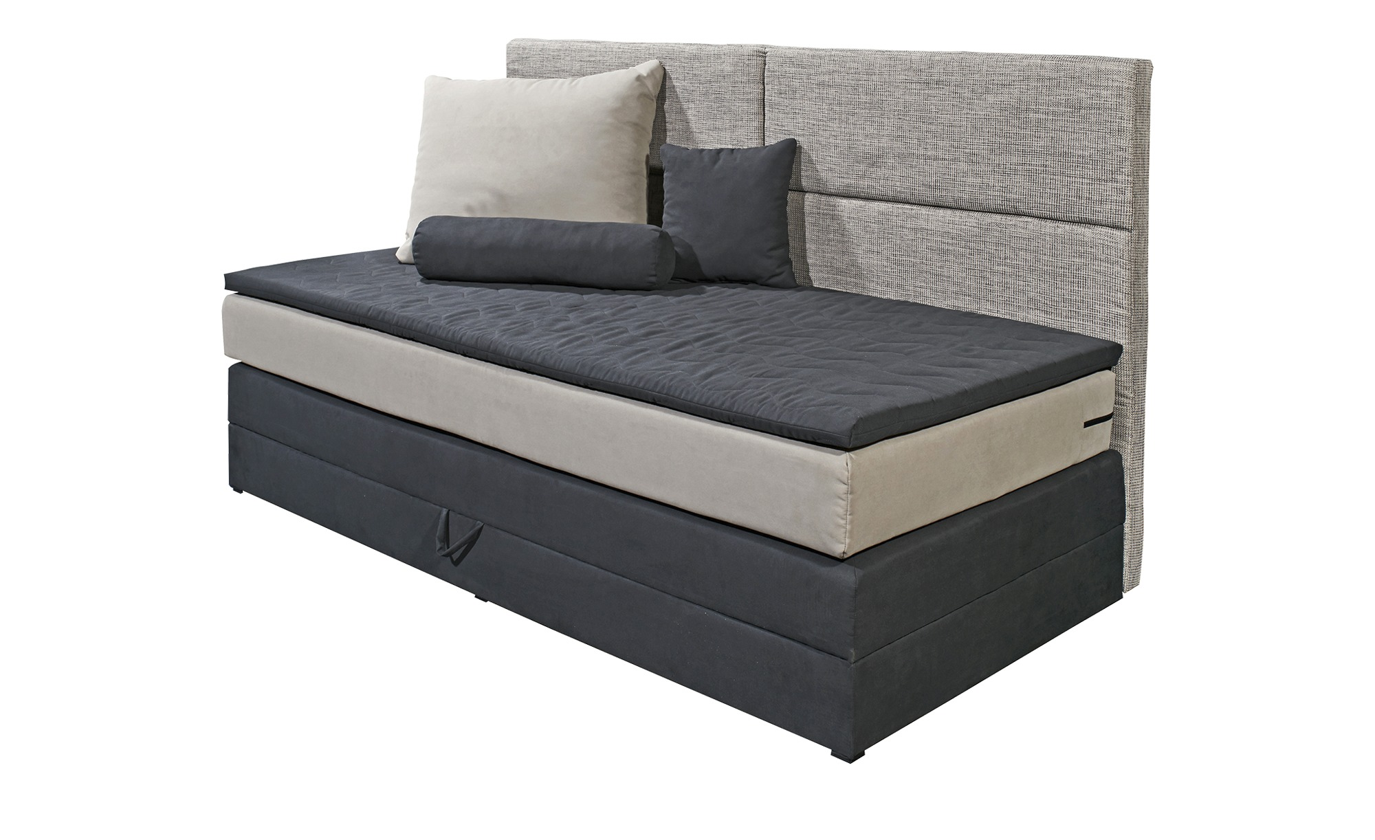 einzel boxspringbett grau mit bettkasten chill breite 98 cm h he 113 cm schwarz online kaufen. Black Bedroom Furniture Sets. Home Design Ideas
