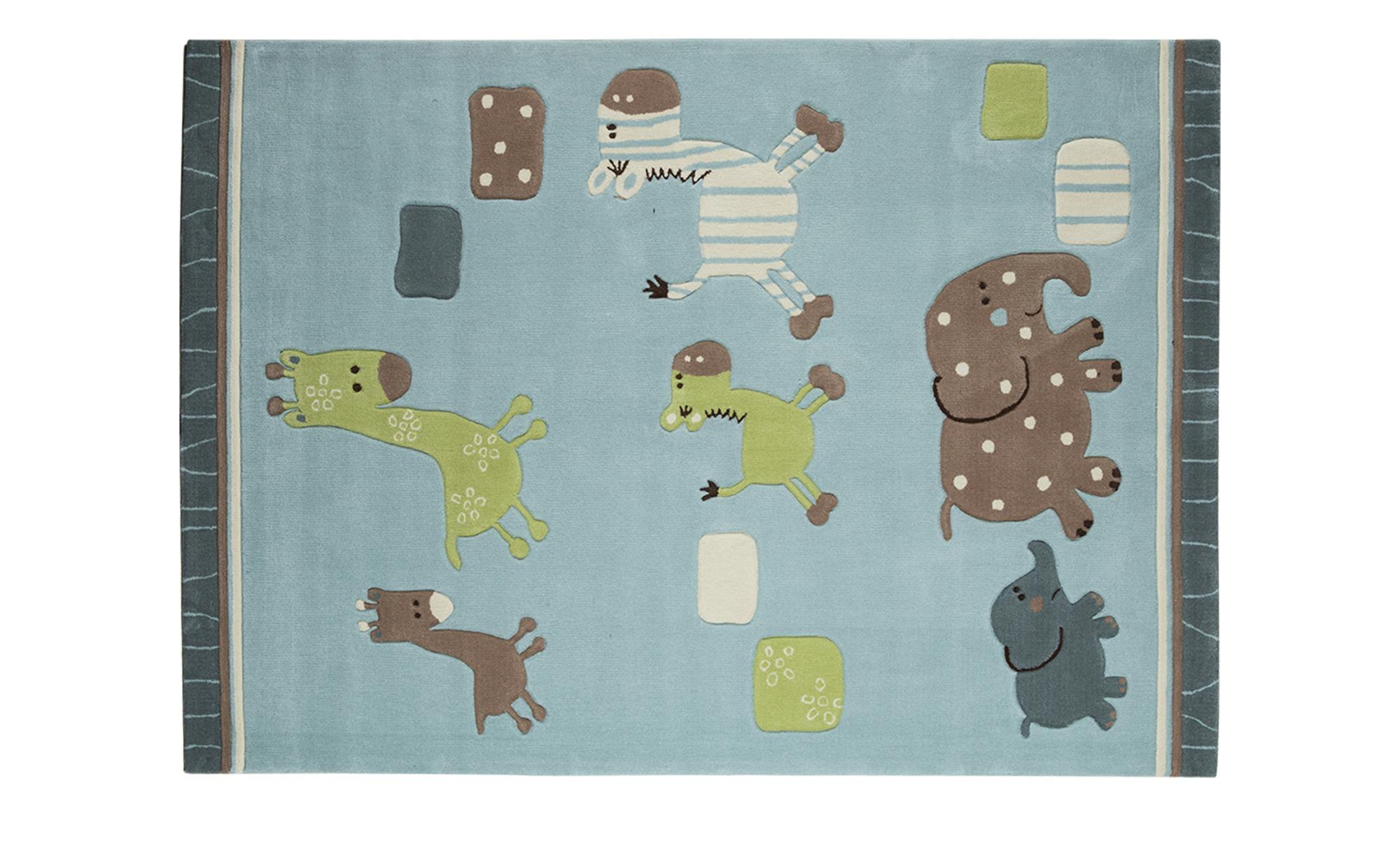 esprit handtuft teppich lucky zoo breite 90 cm h he blau. Black Bedroom Furniture Sets. Home Design Ideas
