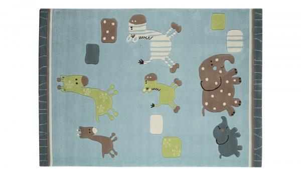 Esprit Handtuft-Teppich  Lucky Zoo Esprit Handtuft-Teppich  Lucky Zoo-Handtuft-Teppich-Esprit-blau-100 % Acryl Breite: 140 cm Höhe: blau