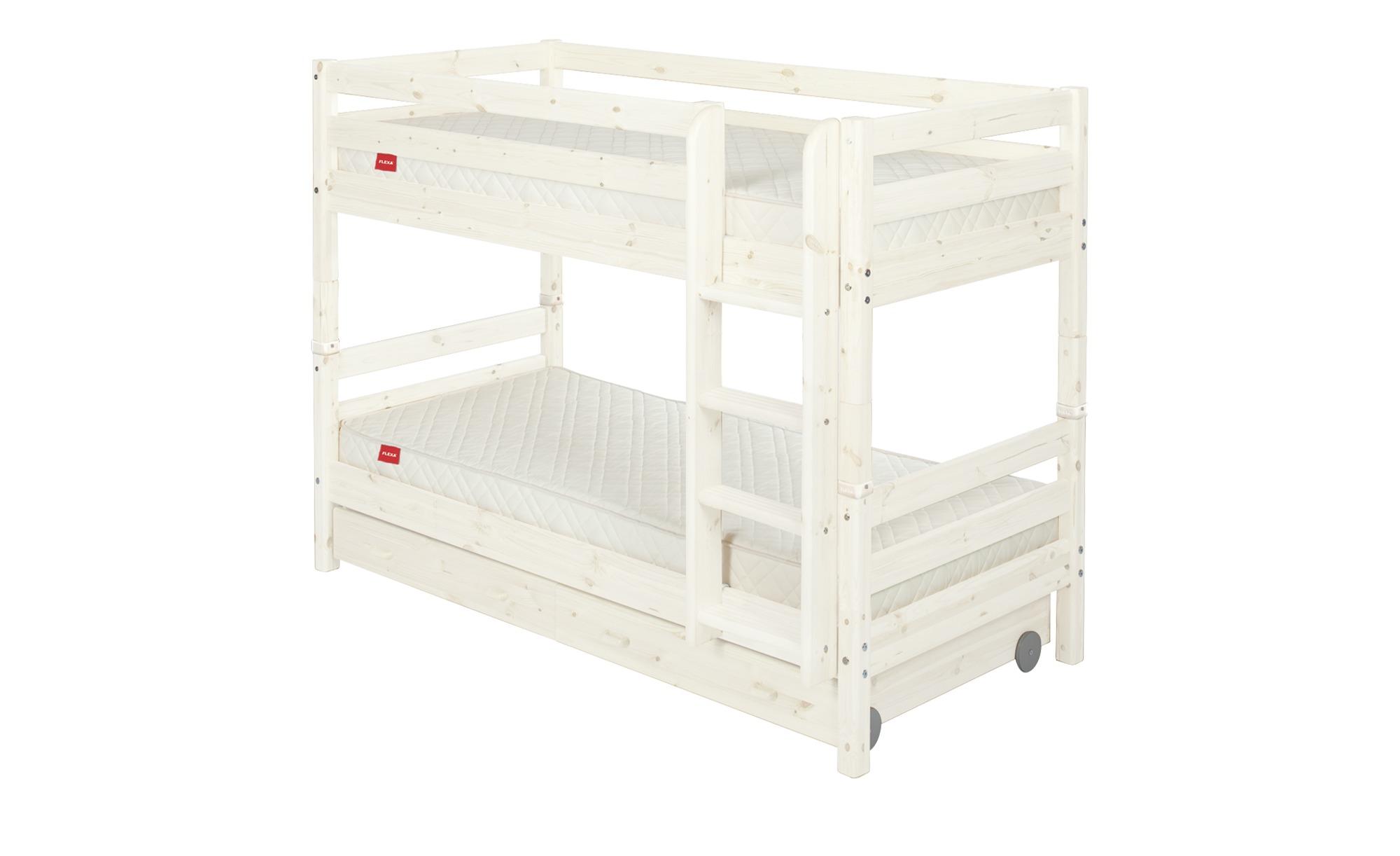 flexa etagenbett mit 2 schubladen flexa classic breite 110 cm h he 154 cm wei online kaufen. Black Bedroom Furniture Sets. Home Design Ideas