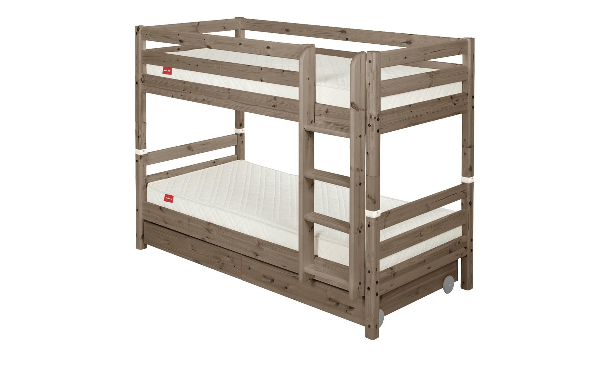 flexa etagenbett mit 2 schubladen flexa classic breite 110 cm h he 154 cm holzfarben online. Black Bedroom Furniture Sets. Home Design Ideas