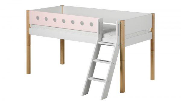 FLEXA Halbhohes Bett  Flexa White FLEXA Halbhohes Bett  Flexa White-Halbhohes Bett-FLEXA-weiß Breite: 151 cm Höhe: 120 cm weiß