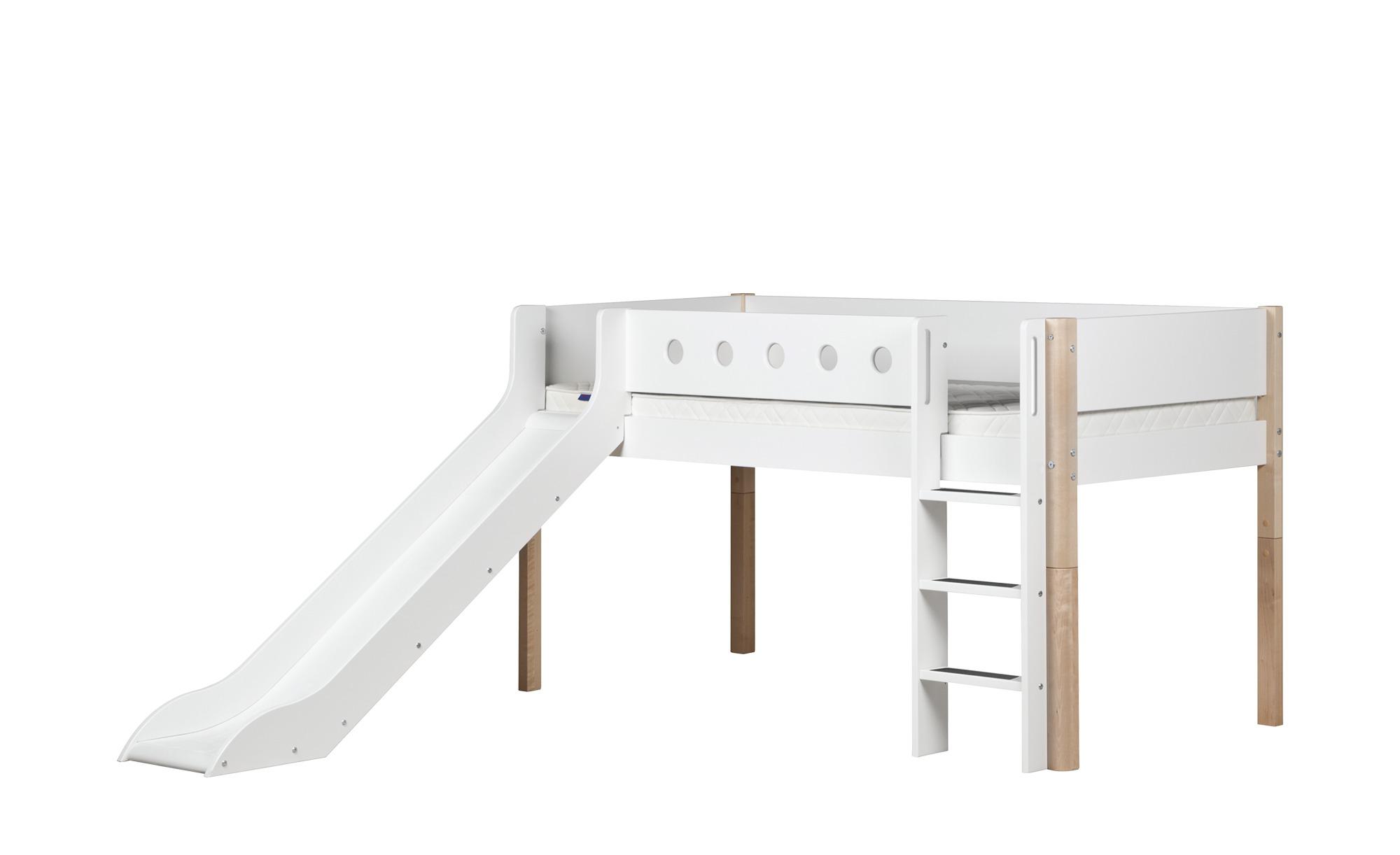 flexa halbhohes bett mit rutsche flexa white breite 250 cm h he 120 cm wei online kaufen bei. Black Bedroom Furniture Sets. Home Design Ideas