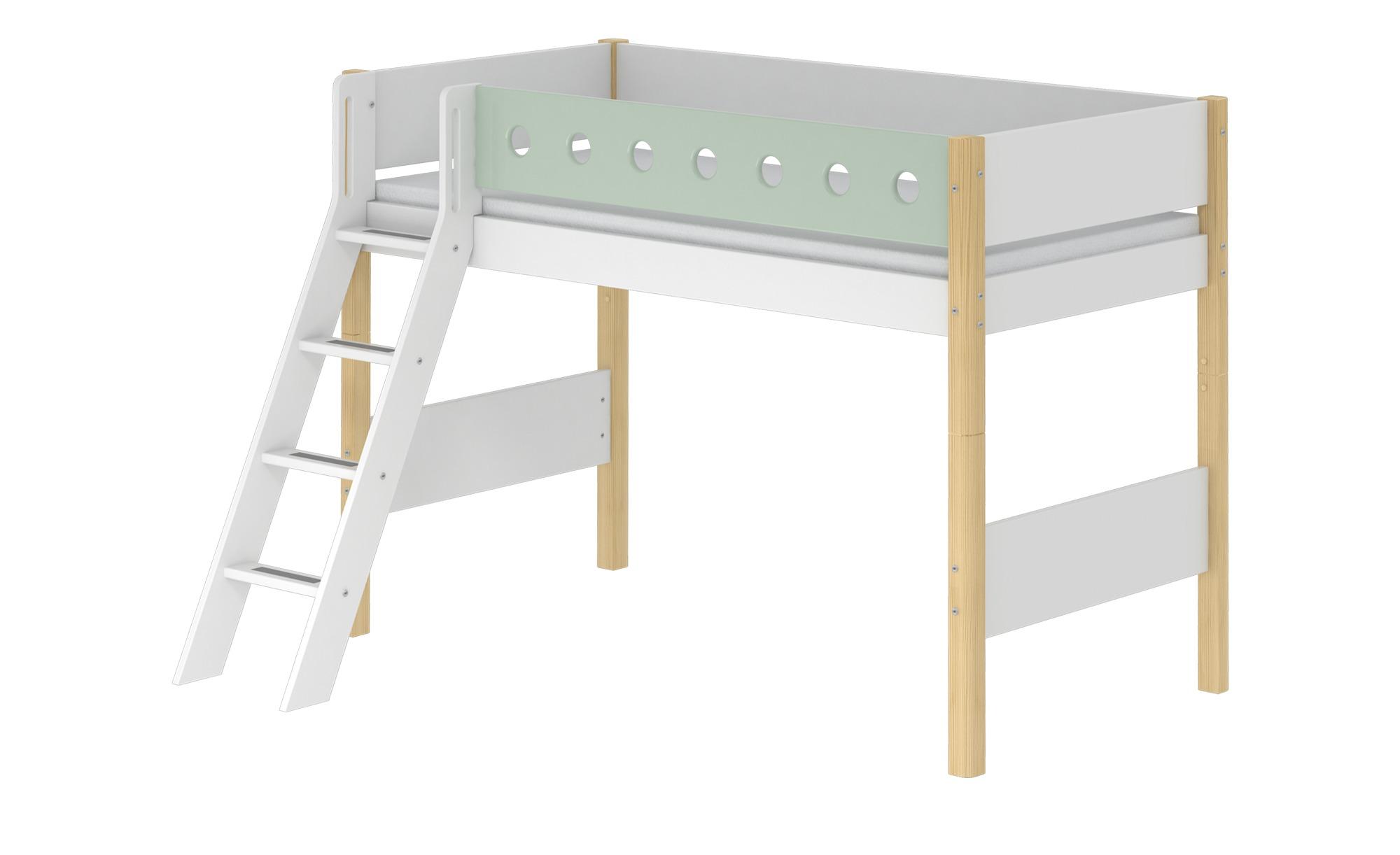 flexa mittelhohes bett mit leiter flexa white breite 159 cm h he 143 cm online kaufen bei woonio. Black Bedroom Furniture Sets. Home Design Ideas