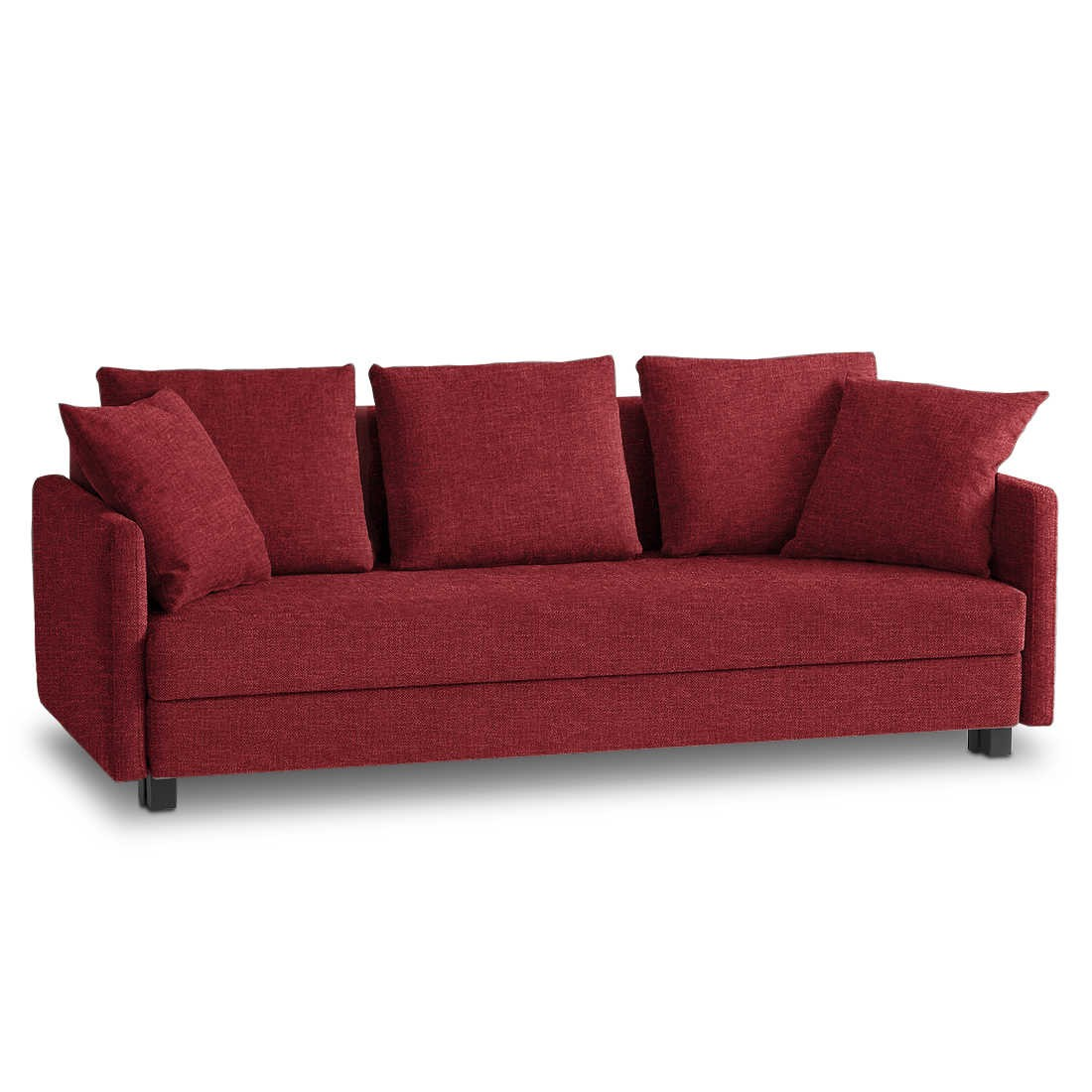 franz fertig schlafsofa jester rot stoff online kaufen bei woonio. Black Bedroom Furniture Sets. Home Design Ideas