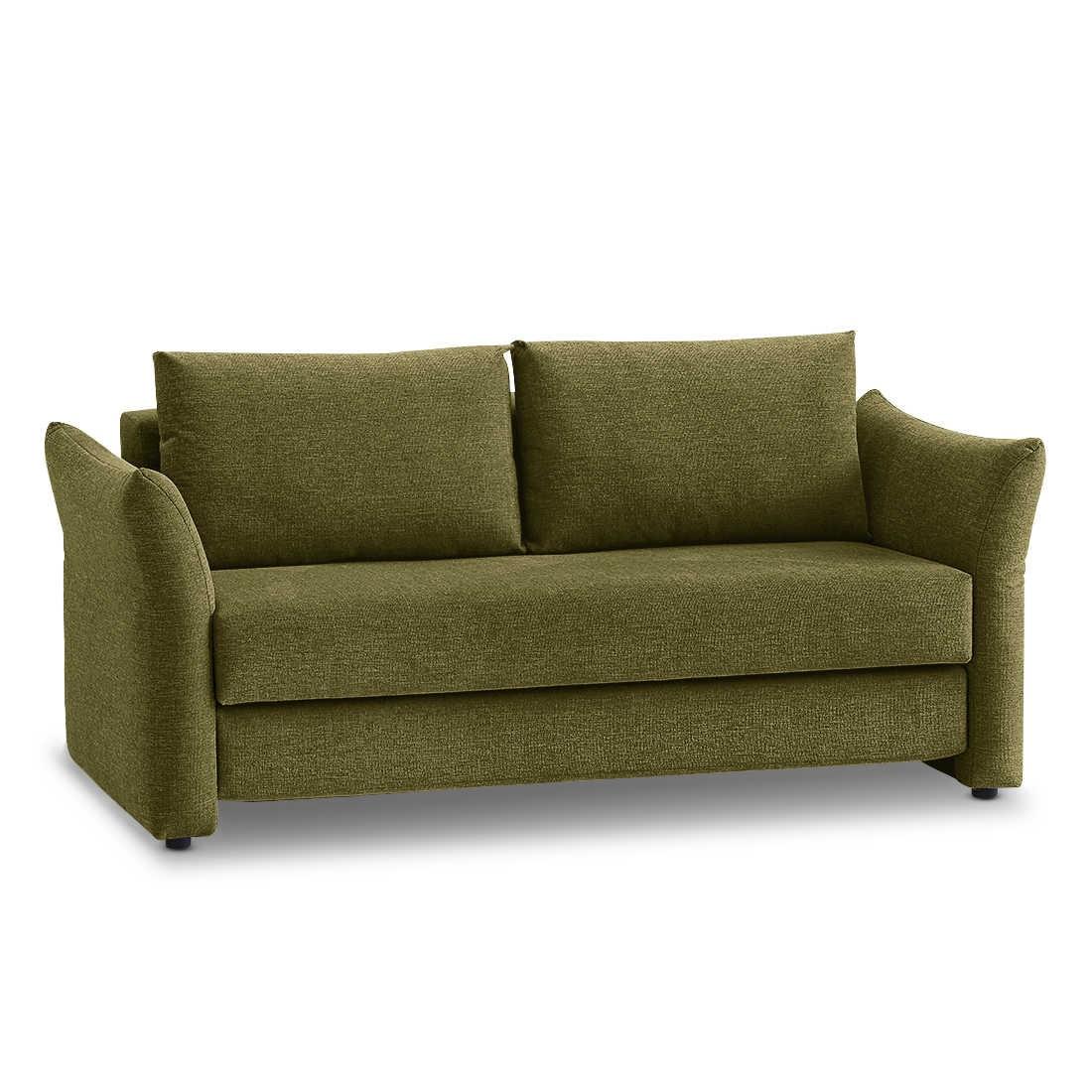 franz fertig schlafsofa loris gr n stoff 166 cm online kaufen bei woonio. Black Bedroom Furniture Sets. Home Design Ideas