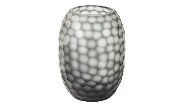 Glasvase Glasvase-Glasvase-grau-Glas Breite: Höhe: 23 cm grau