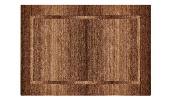 Handtuft-Teppich  Gabari Handtuft-Teppich  Gabari-Handtuft-Teppich-braun-reine Wolle Breite: 160 cm Höhe: braun