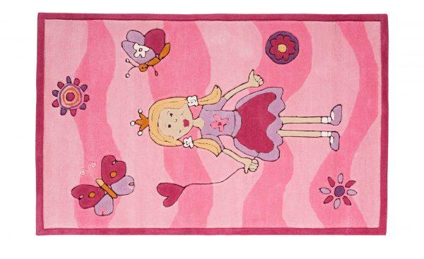 Handtuft-Teppich  Maui Handtuft-Teppich  Maui-Handtuft-Teppich-rosa/pink-100% Polyacryl Breite: 120 cm Höhe: rosa/pink