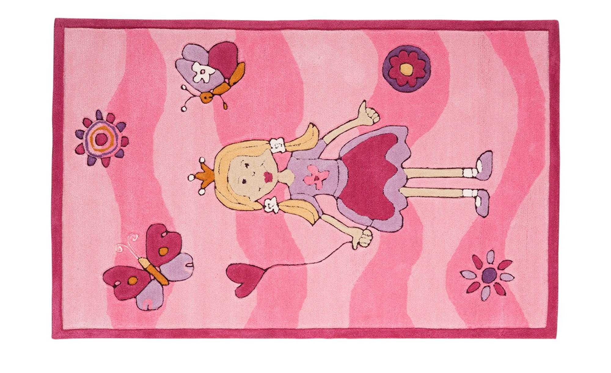 Handtuft Teppich Maui Breite 120 Cm H 246 He Rosa Pink