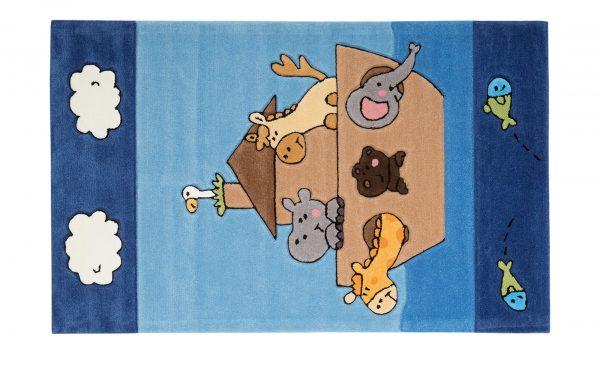 Handtuft-Teppich  Maui Handtuft-Teppich  Maui-Handtuft-Teppich-blau-100 % Polyacryl Breite: 120 cm Höhe: blau