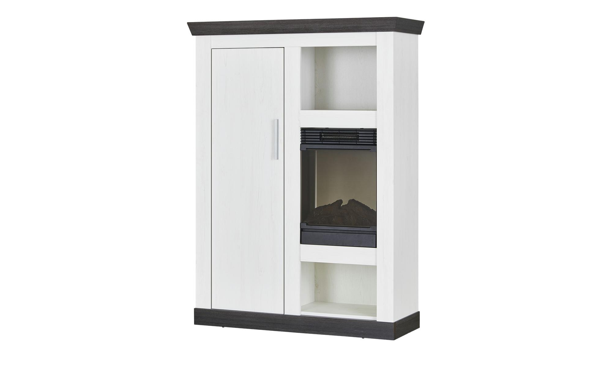 highboard mit kamineinsatz sierra breite 107 cm h he 146 cm wei online kaufen bei woonio. Black Bedroom Furniture Sets. Home Design Ideas