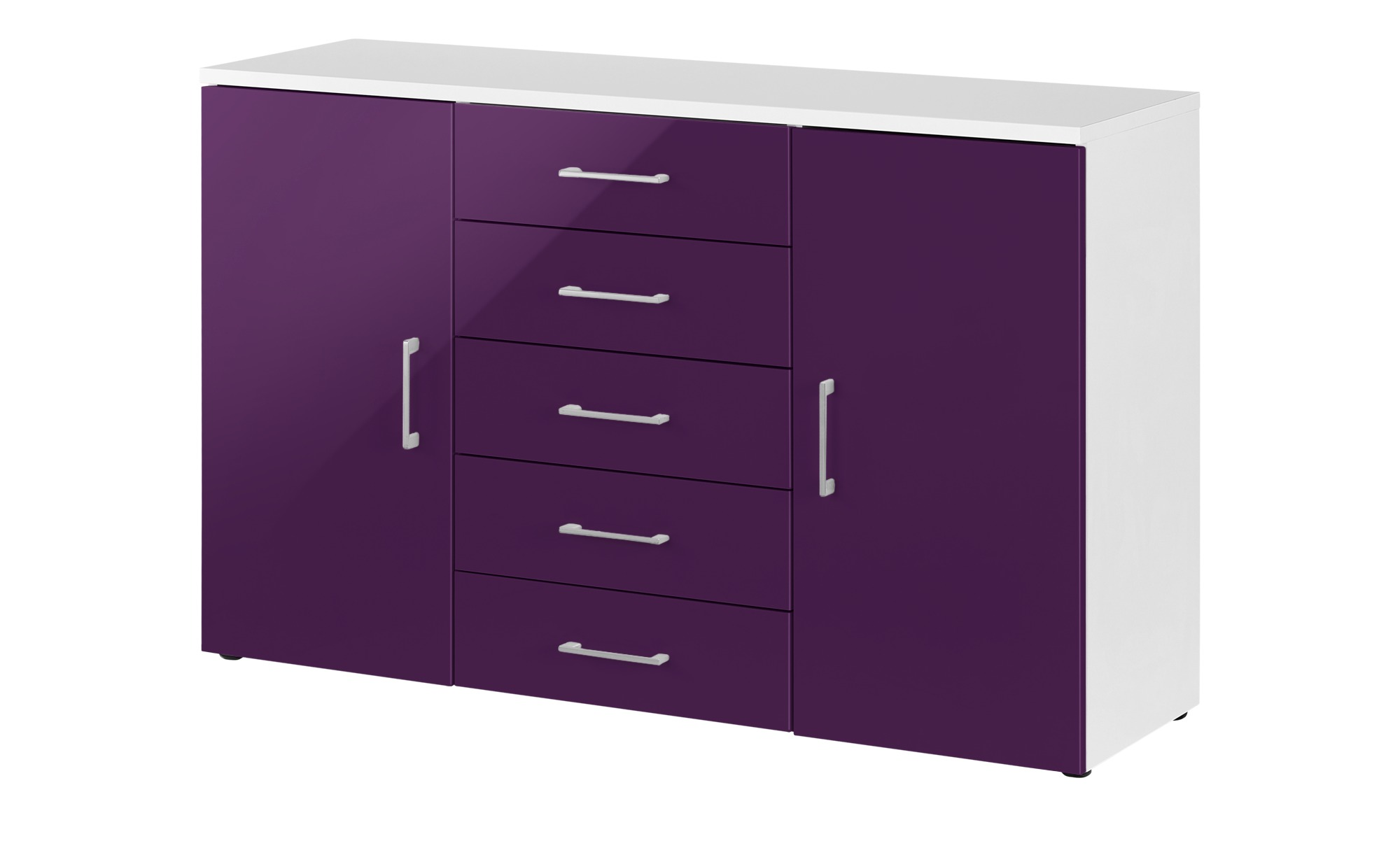 kombikommode colors breite 130 cm h he 84 cm lila. Black Bedroom Furniture Sets. Home Design Ideas