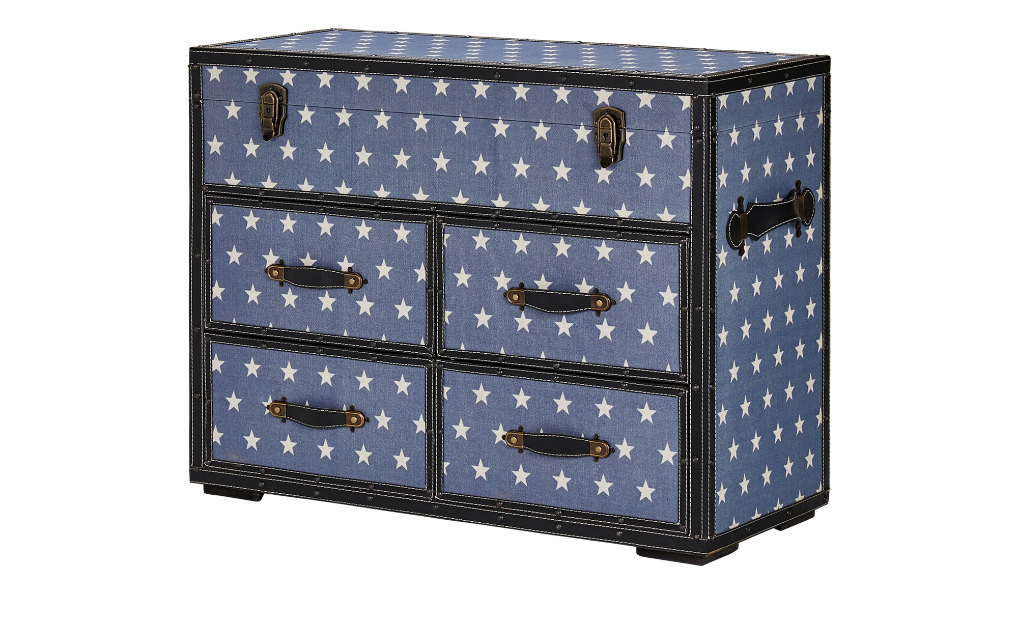 kommode starlight breite 80 cm h he 63 cm blau online. Black Bedroom Furniture Sets. Home Design Ideas