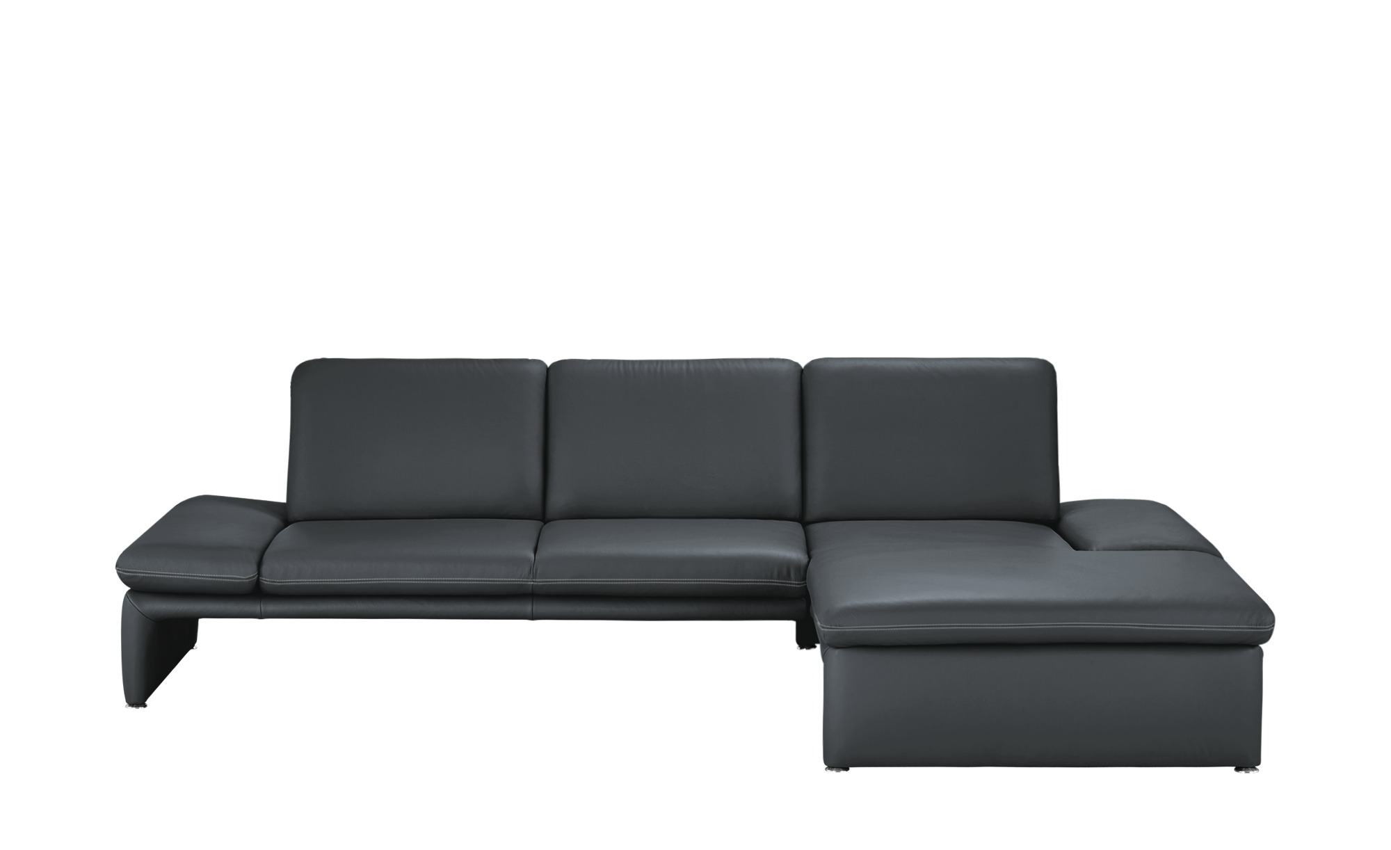 leder ecksofa harbour breite h he 85 cm grau online kaufen bei woonio. Black Bedroom Furniture Sets. Home Design Ideas