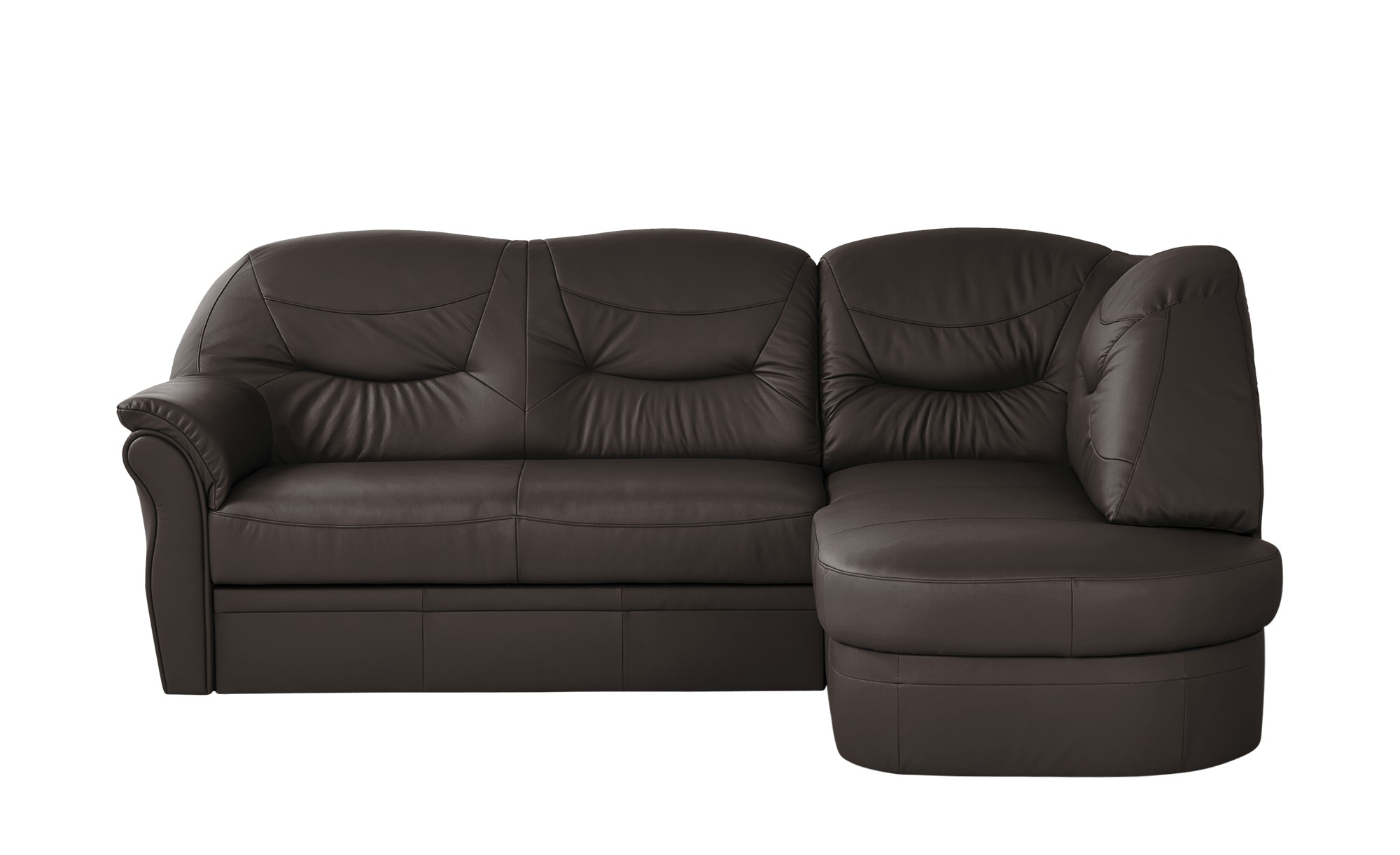 leder ecksofa victoria breite h he 91 cm braun online kaufen bei woonio. Black Bedroom Furniture Sets. Home Design Ideas