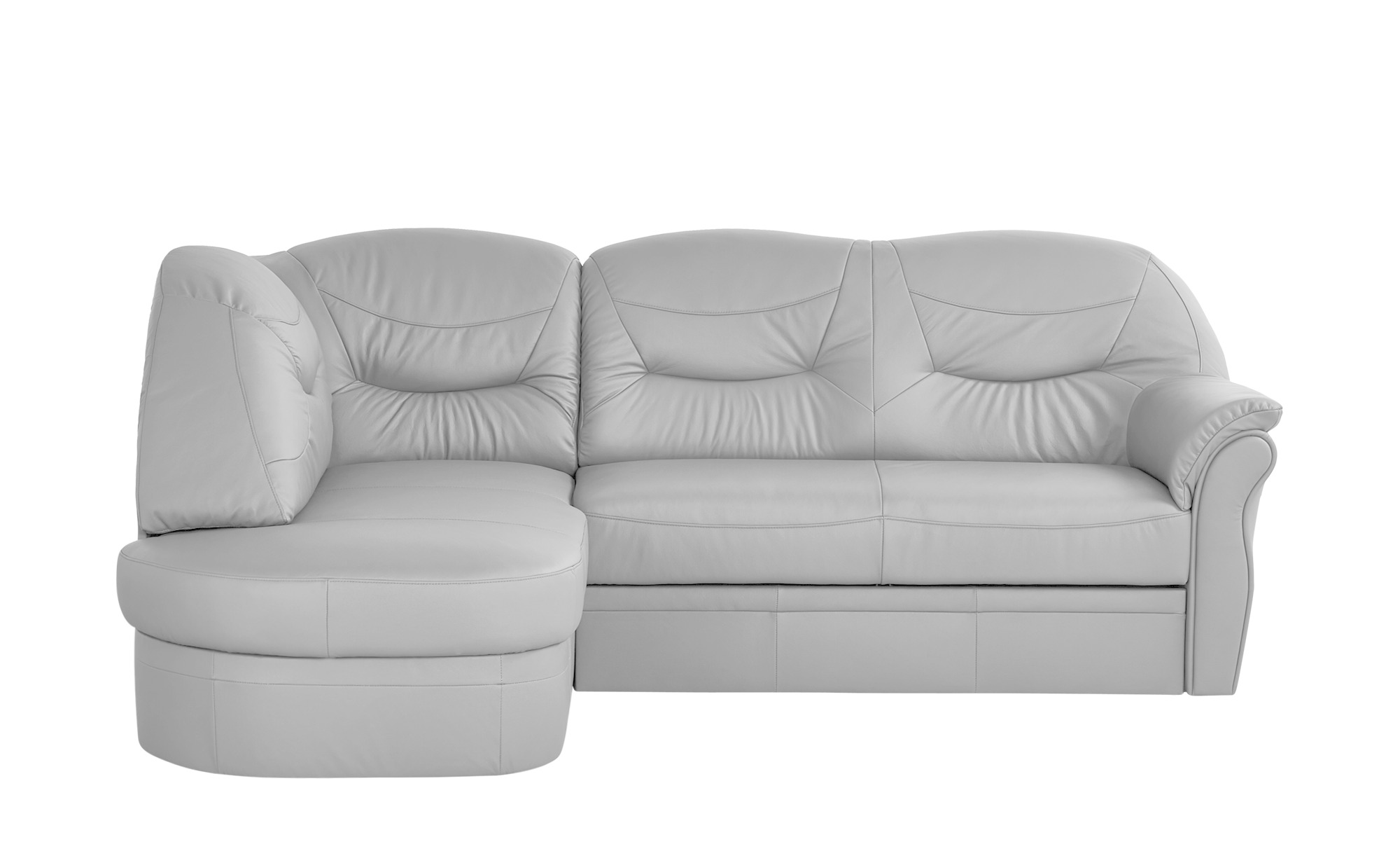 leder ecksofa victoria breite h he 91 cm grau online kaufen bei woonio. Black Bedroom Furniture Sets. Home Design Ideas