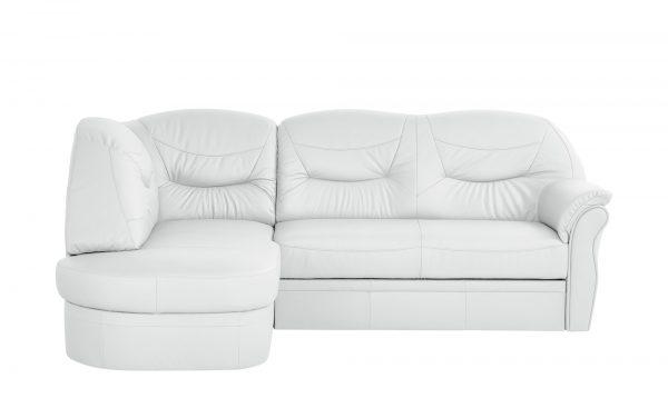 leder ecksofa victoria breite h he 91 cm wei online. Black Bedroom Furniture Sets. Home Design Ideas