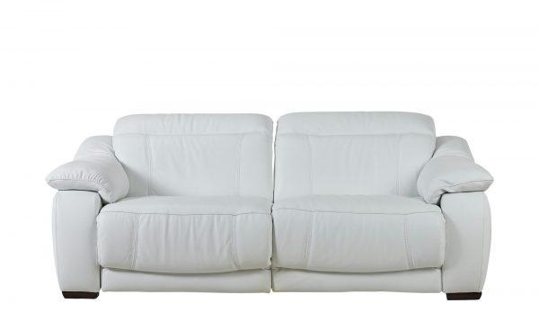 Ledersofa mit Relaxfunktion  Unika Ledersofa mit Relaxfunktion  Unika-Ledersofa mit Relaxfunktion-weiß Breite: 224 cm Höhe: 80 cm weiß