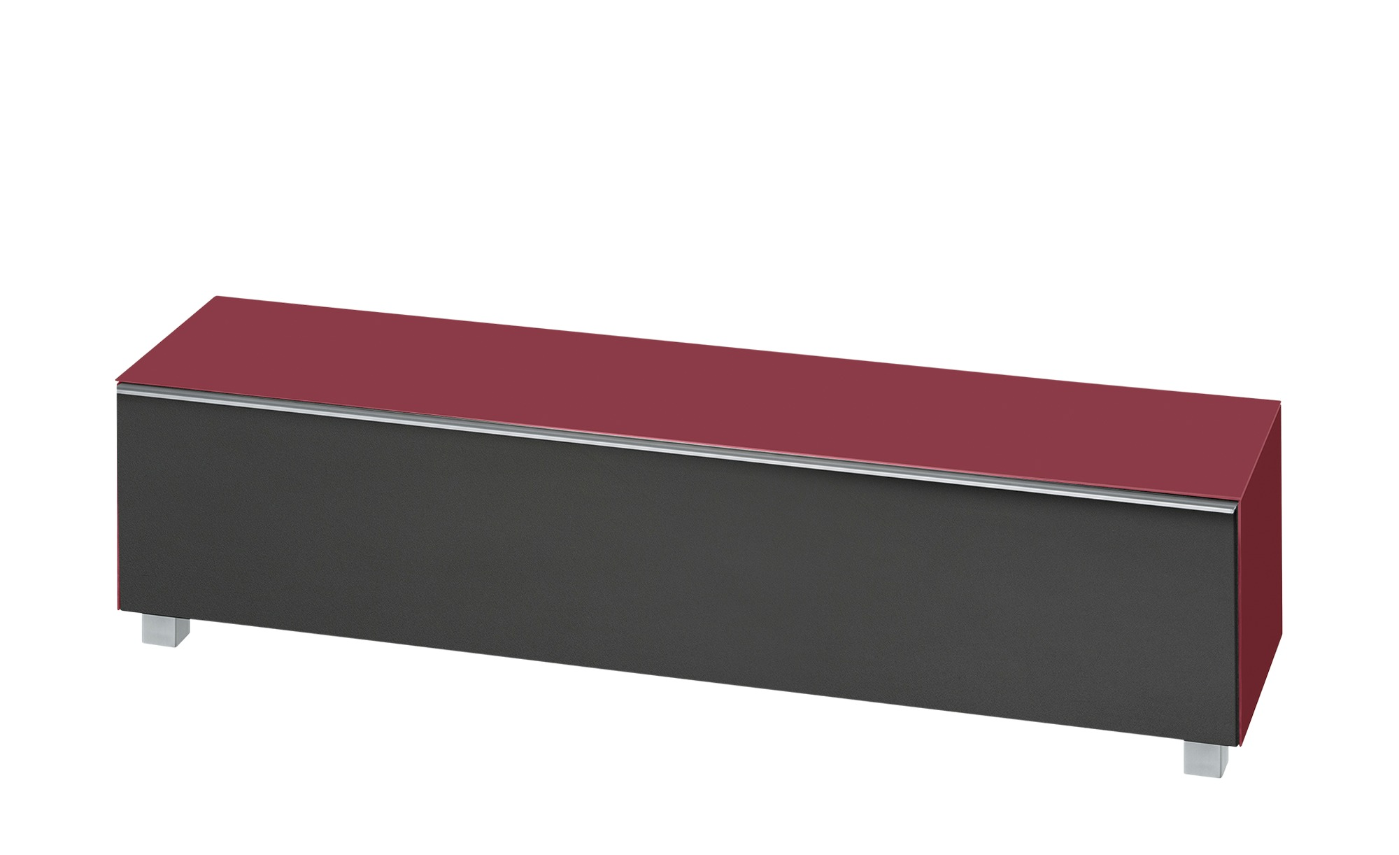 lowboard soundbase l breite 180 cm h he 43 cm rot online kaufen bei woonio. Black Bedroom Furniture Sets. Home Design Ideas