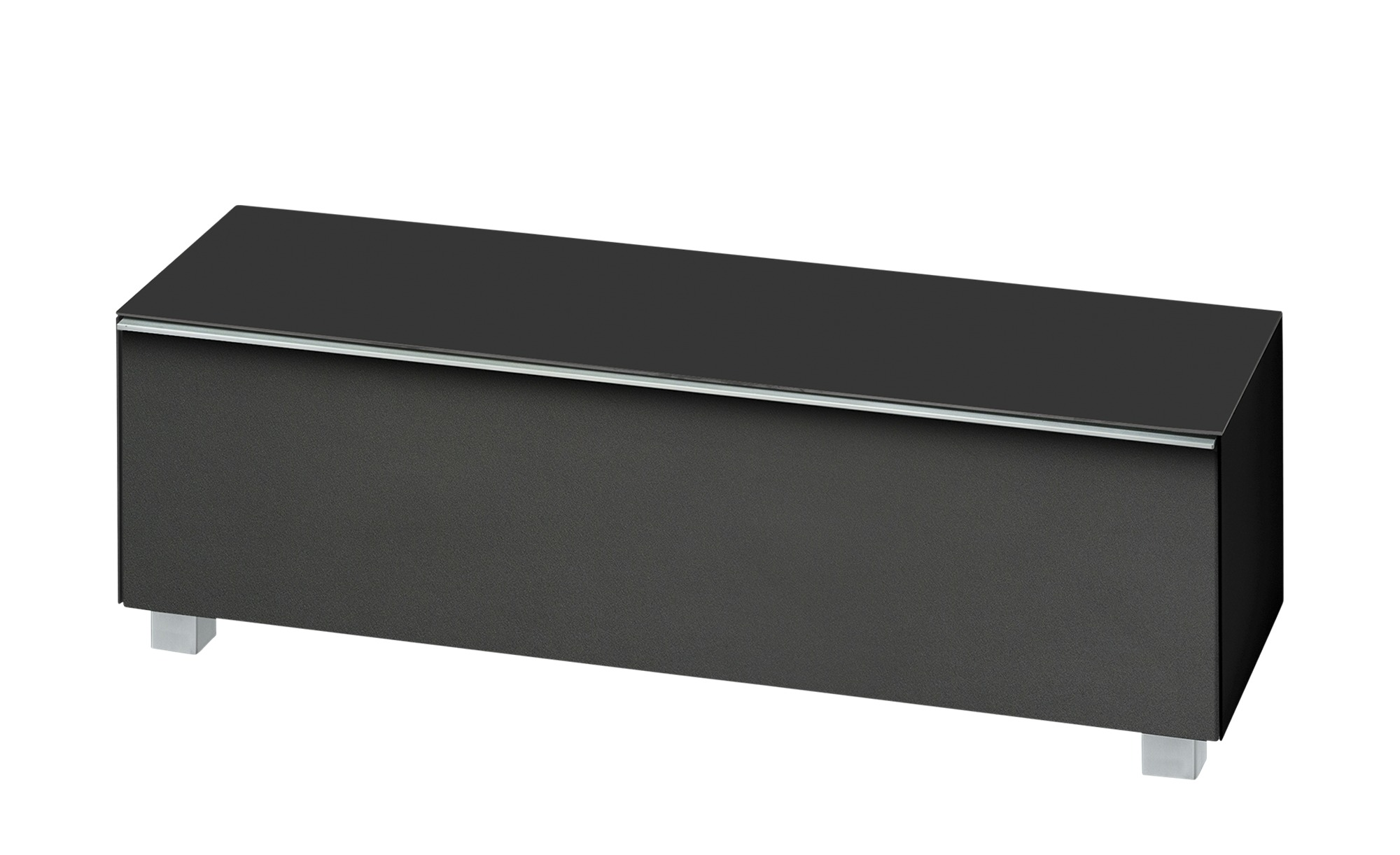 lowboard soundbase s breite 140 cm h he 43 cm schwarz. Black Bedroom Furniture Sets. Home Design Ideas