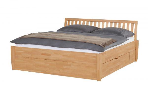 Massivholz-Bettgestell  Timber Massivholz-Bettgestell  Timber-Massivholz-Bettgestell-holzfarben Breite: 196 cm Höhe: 93 cm holzfarben