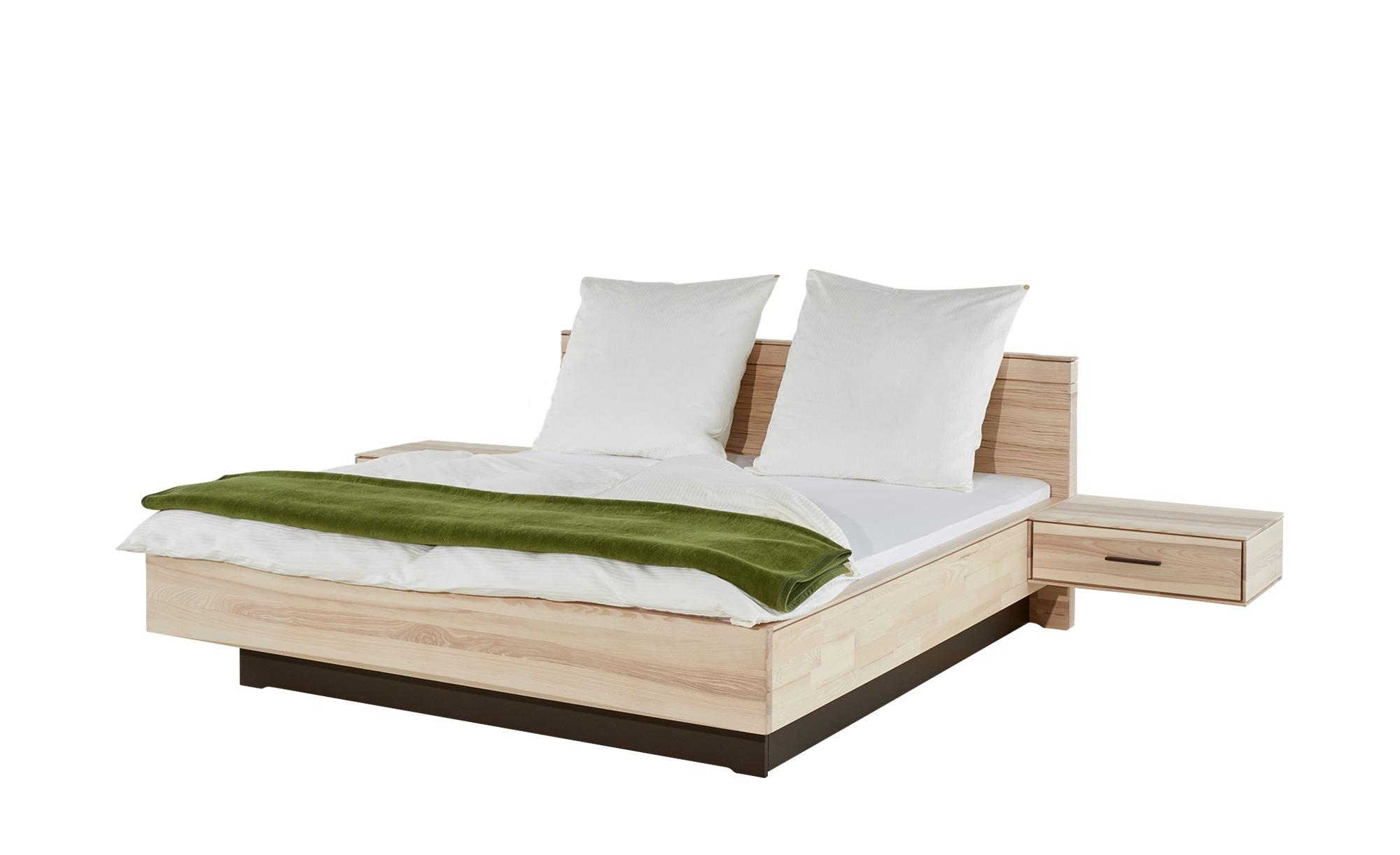 massivholz doppelbett mit nachtkonsolen kiruna breite 191 cm h he 86 cm holzfarben online. Black Bedroom Furniture Sets. Home Design Ideas