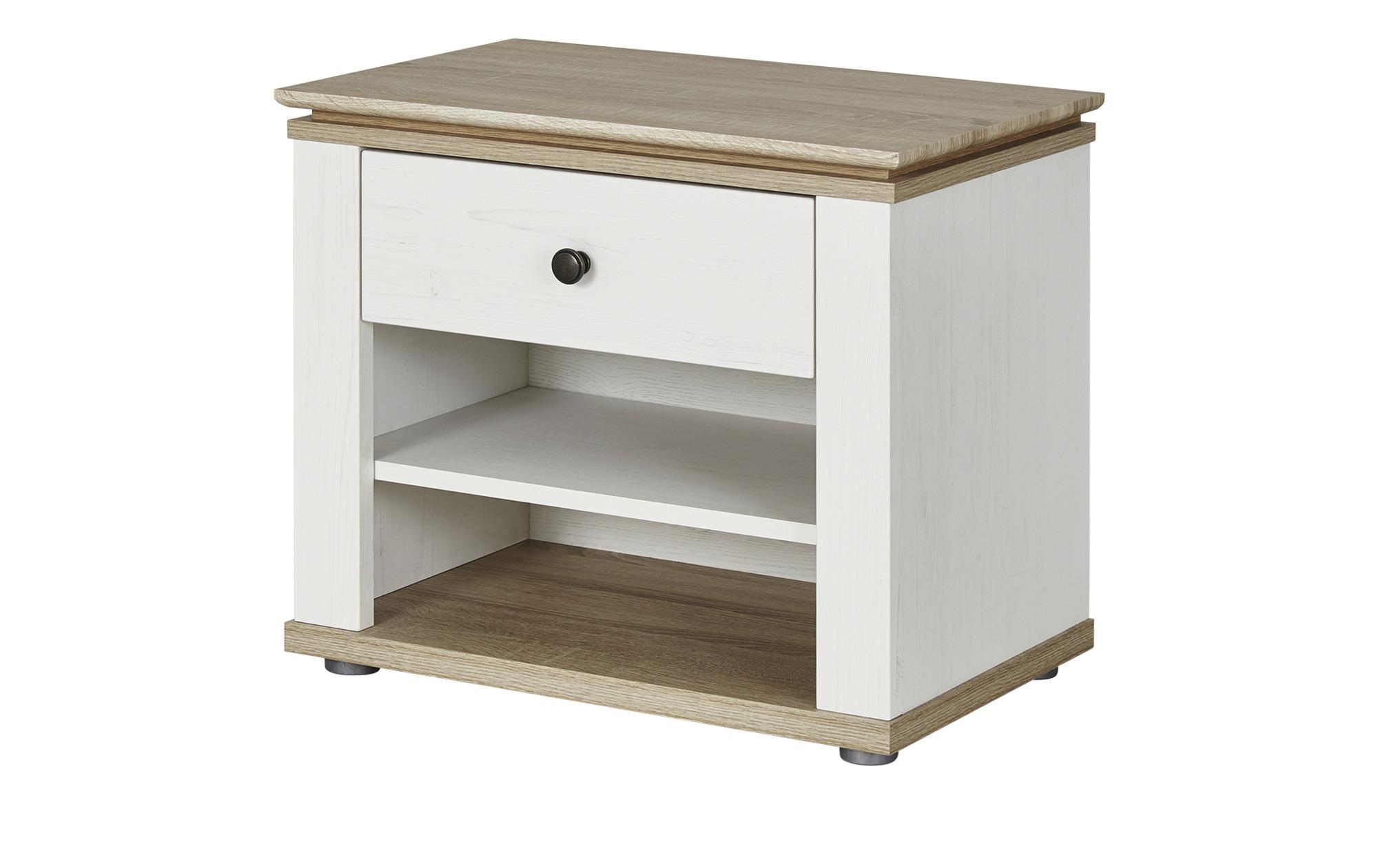 nachtkommode carmen breite 58 cm h he 50 cm wei online. Black Bedroom Furniture Sets. Home Design Ideas