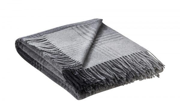 Plaid  Britta Plaid  Britta-Plaid-grau-100% Schurwolle Breite: 130 cm Höhe: grau