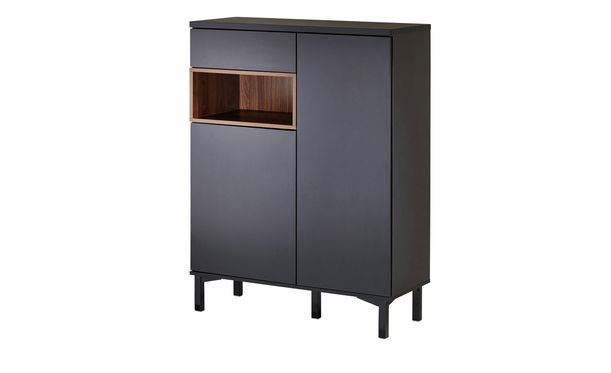roomers highboard case breite 90 cm h he 120 cm schwarz online kaufen bei woonio. Black Bedroom Furniture Sets. Home Design Ideas
