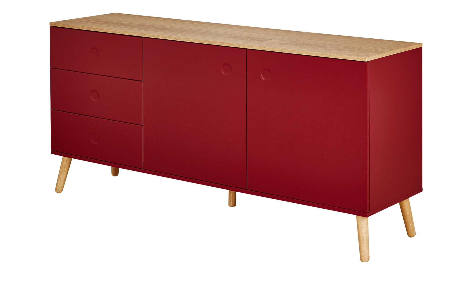 roomers sideboard scan breite 162 cm h he 79 cm rot. Black Bedroom Furniture Sets. Home Design Ideas
