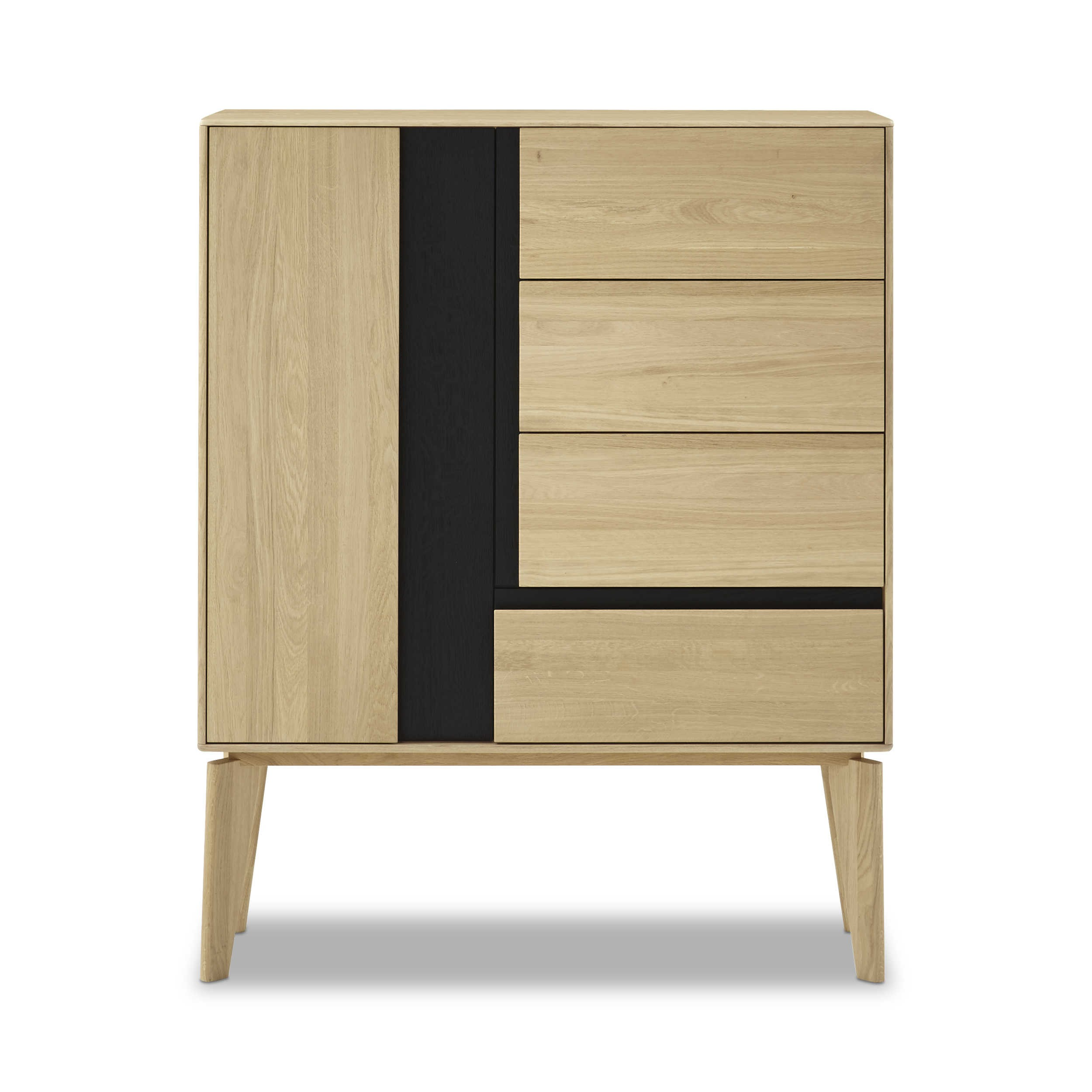 sch ner wohnen highboard craft 4112 eiche holz online kaufen bei woonio. Black Bedroom Furniture Sets. Home Design Ideas
