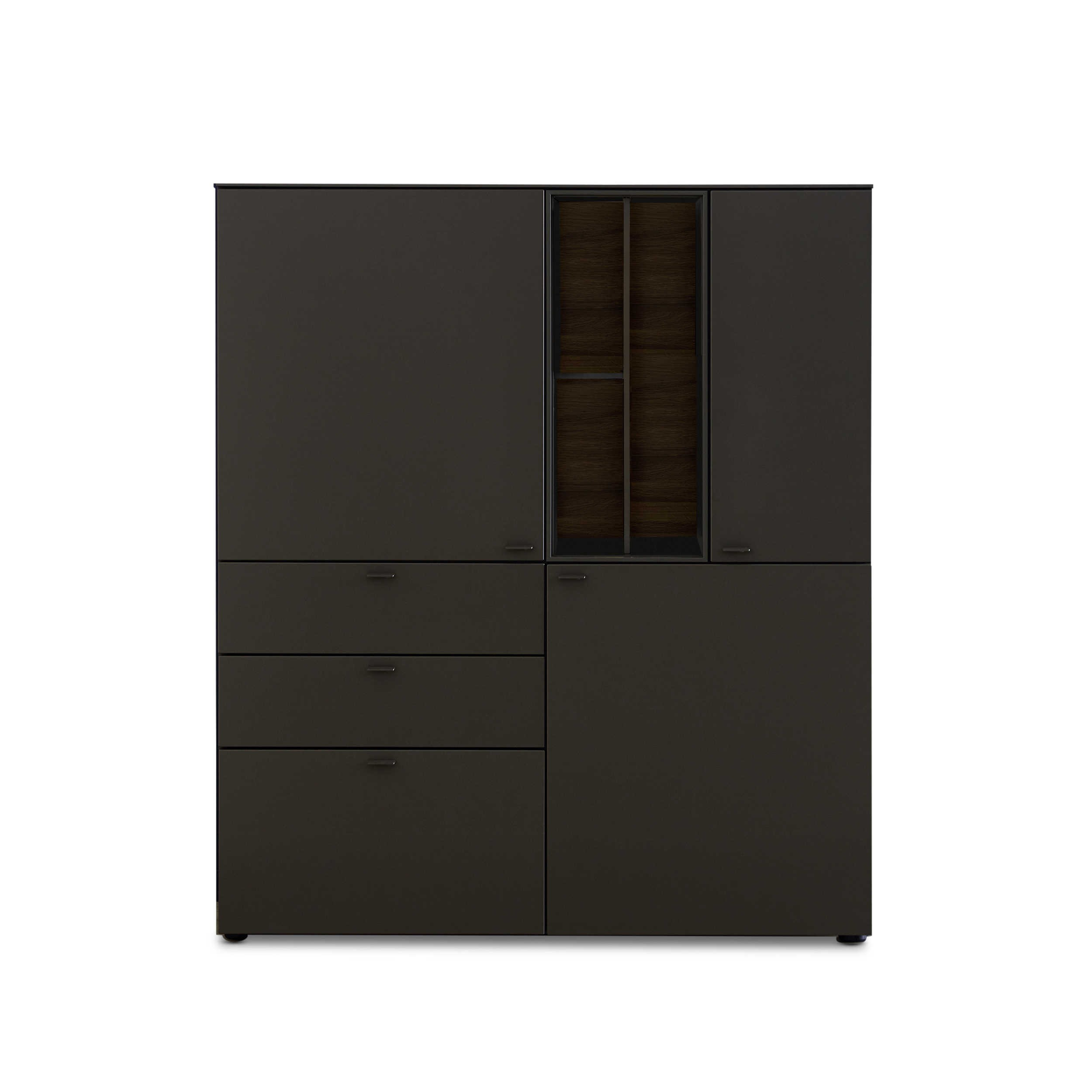 sch ner wohnen highboard geo s652 grau holz online kaufen bei woonio. Black Bedroom Furniture Sets. Home Design Ideas