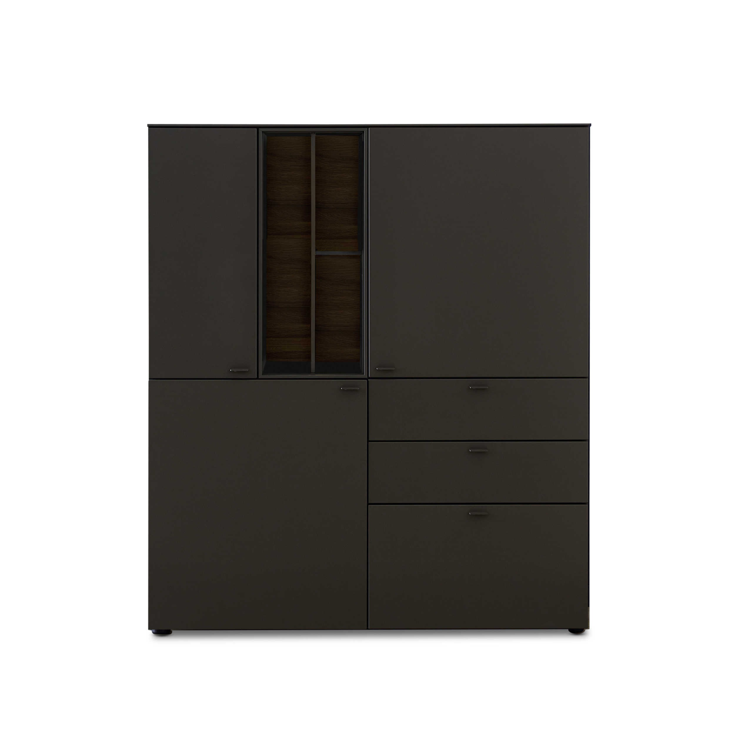 sch ner wohnen highboard geo s653 grau holz online kaufen bei woonio. Black Bedroom Furniture Sets. Home Design Ideas