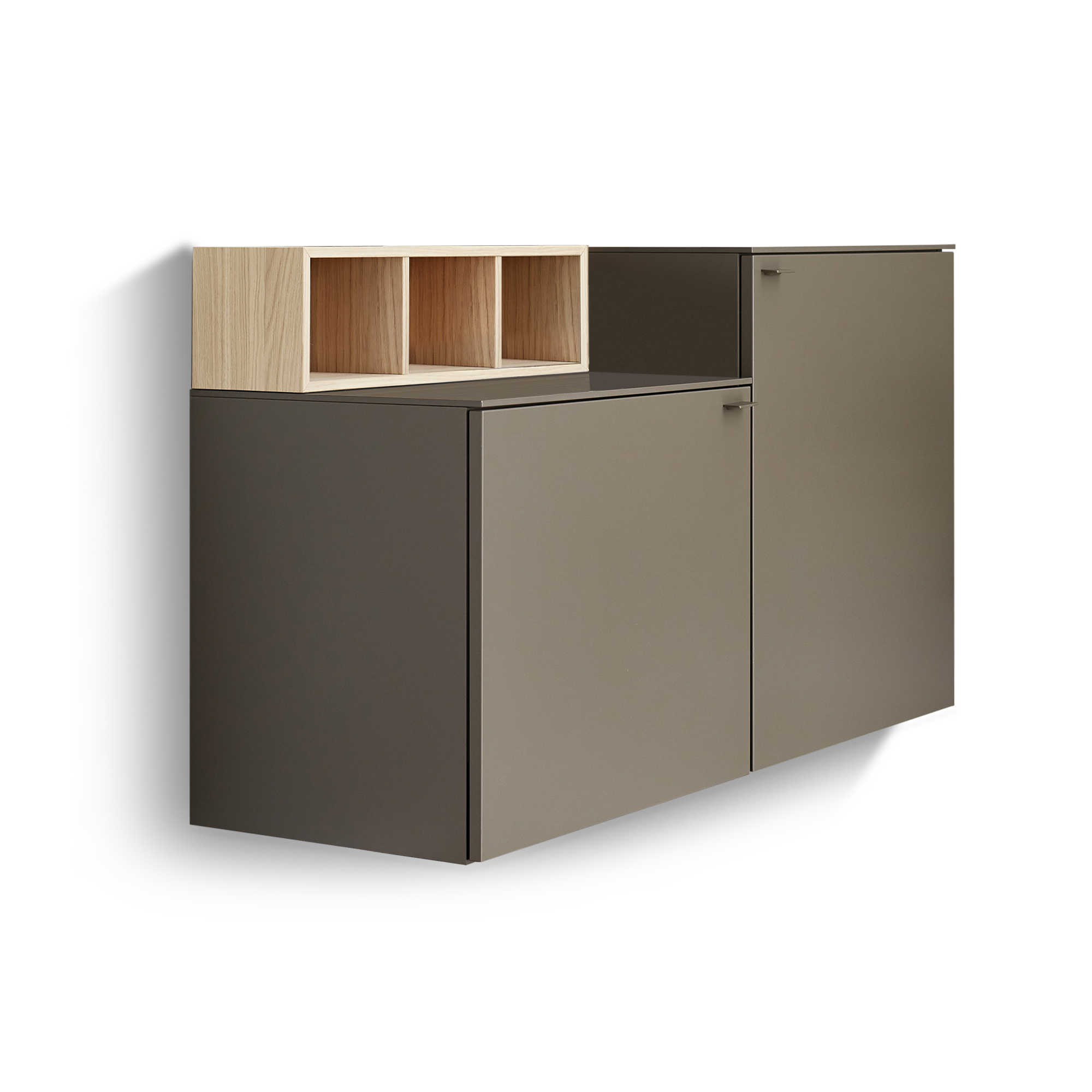 sch ner wohnen sideboard geo s621 grau holz online kaufen bei woonio. Black Bedroom Furniture Sets. Home Design Ideas