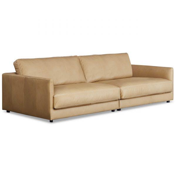 sch ner wohnen sofa garbo orange leder online kaufen bei woonio. Black Bedroom Furniture Sets. Home Design Ideas