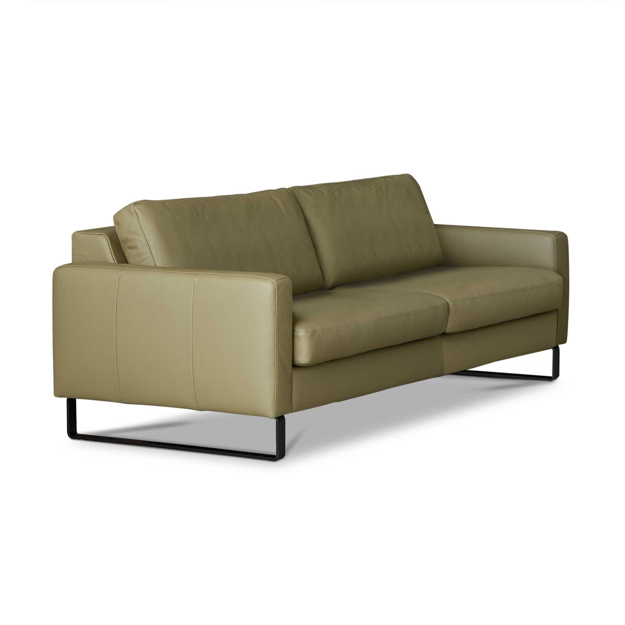 Sch Ner Wohnen schöner wohnen sofa timeless grün leder kaufen bei woonio