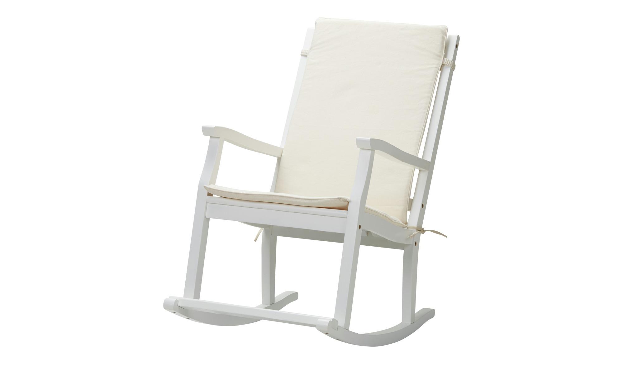 schaukelstuhl aus akazienholz tobi breite 62 cm h he 105 cm wei online kaufen bei woonio. Black Bedroom Furniture Sets. Home Design Ideas