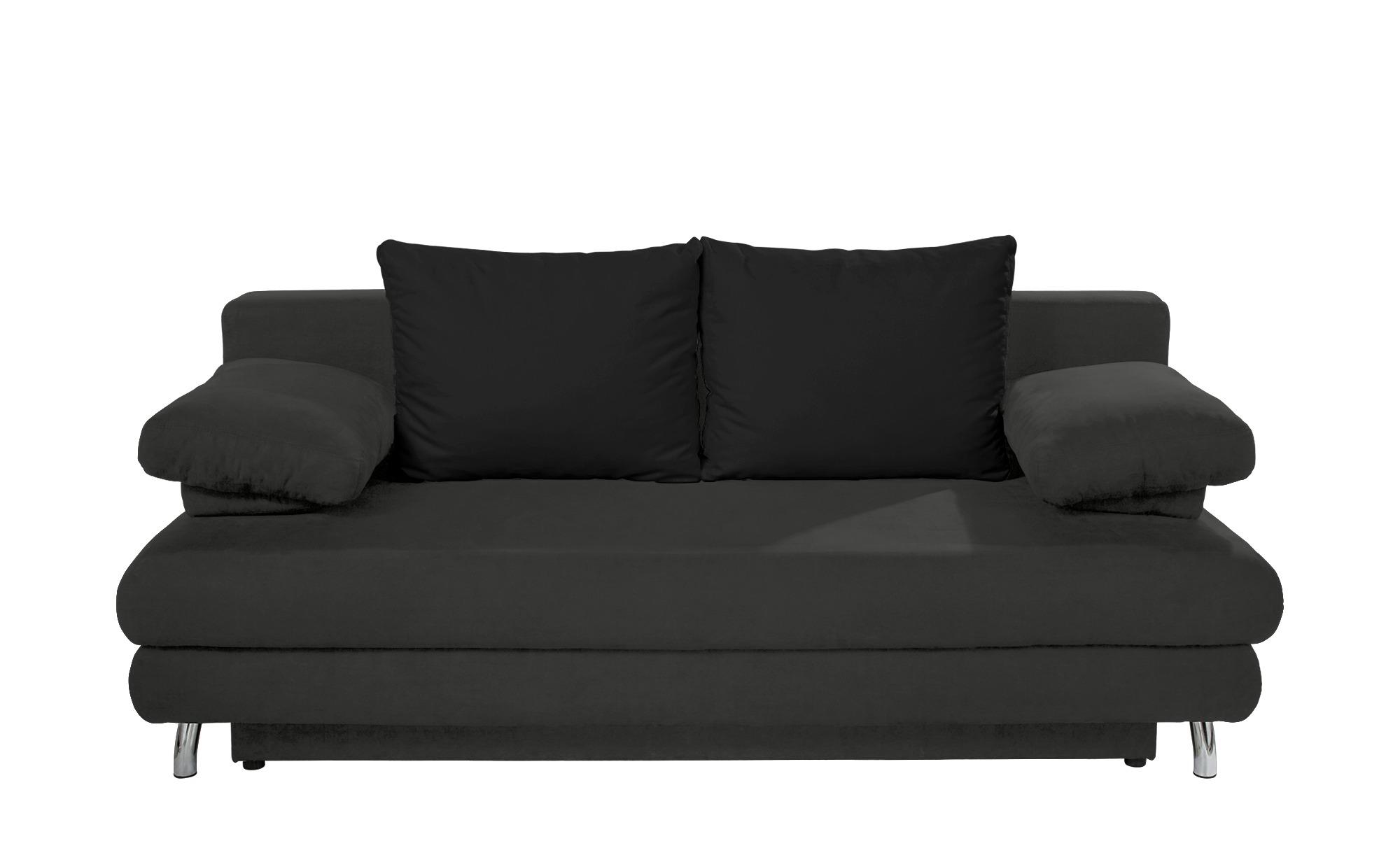 schlafsofa calina breite 205 cm h he 80 cm schwarz
