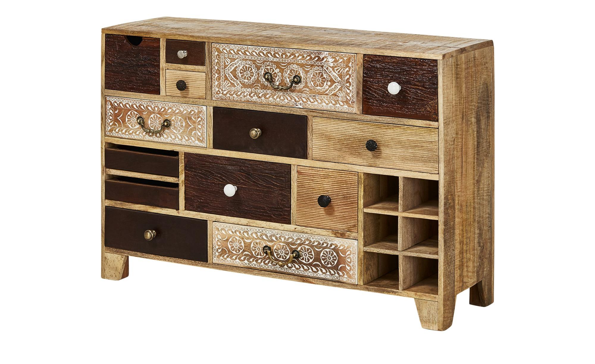 sideboard delhi breite 114 cm h he 80 cm holzfarben online kaufen bei woonio. Black Bedroom Furniture Sets. Home Design Ideas