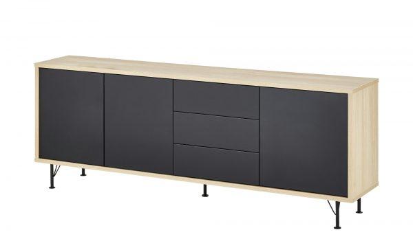 Sideboard  Malte Sideboard  Malte-Sideboard-holzfarben Breite: 206 cm Höhe: 79 cm holzfarben
