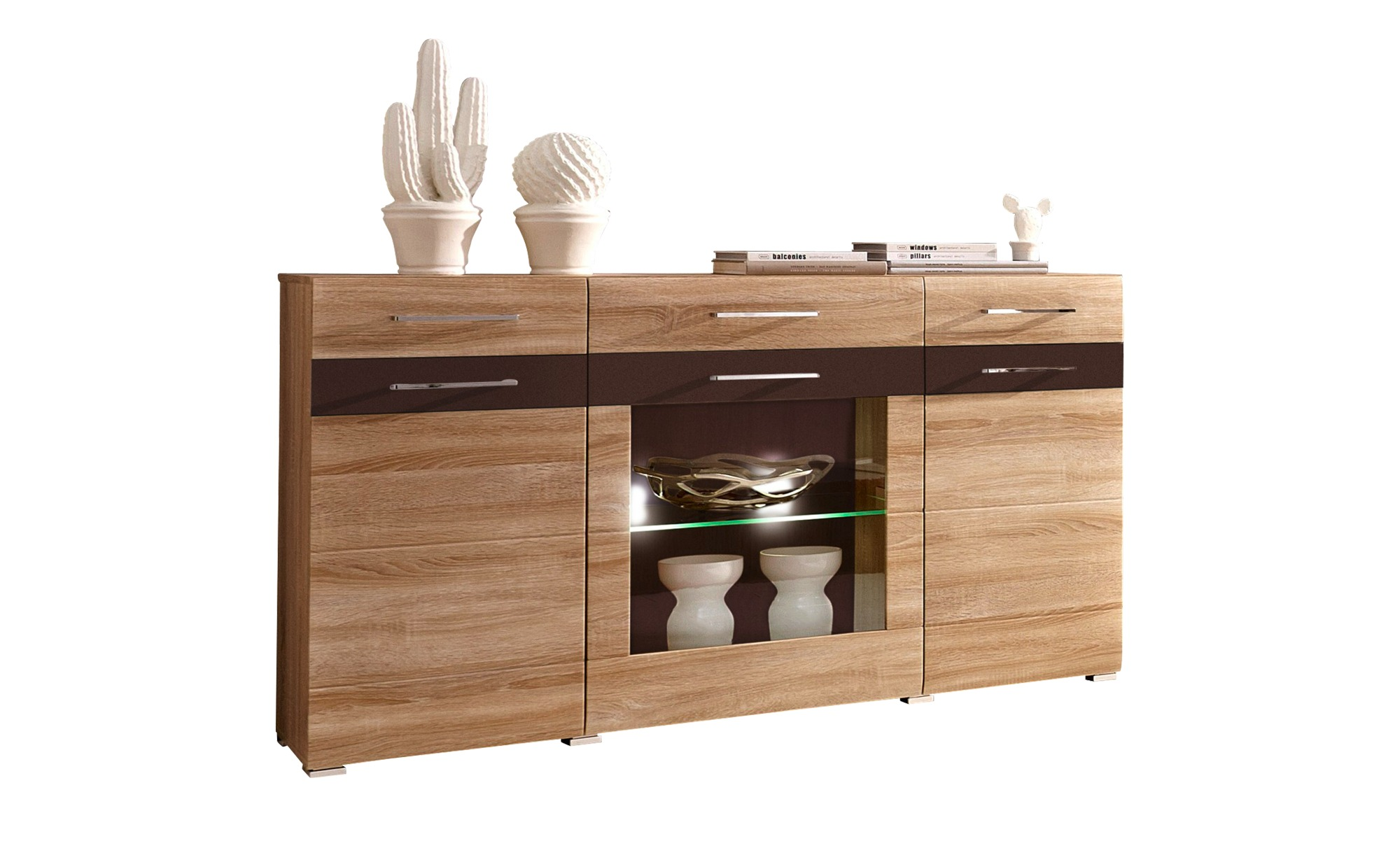 sideboard next breite 155 cm h he 91 cm holzfarben online kaufen bei woonio. Black Bedroom Furniture Sets. Home Design Ideas