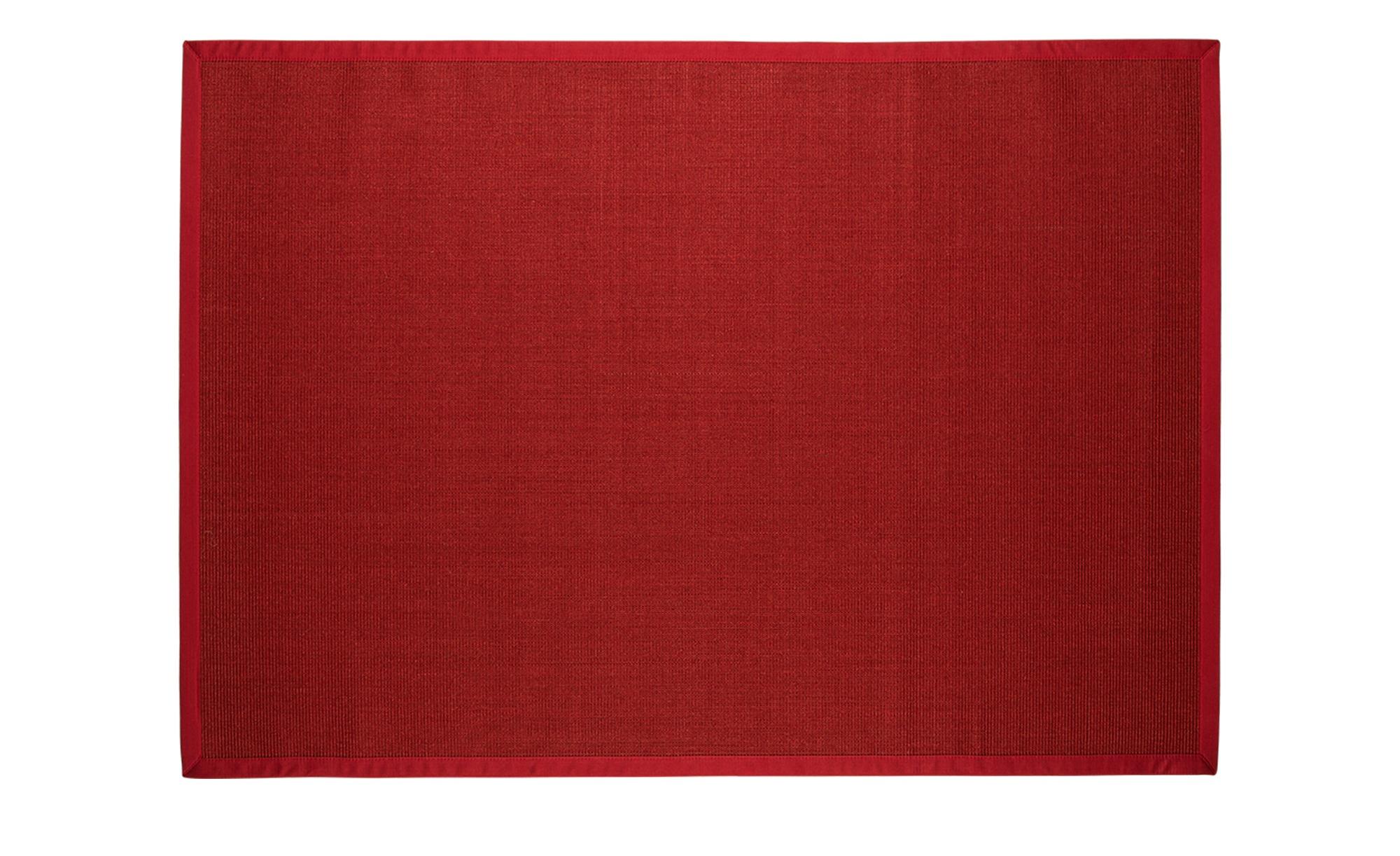 sisal teppich manaus breite 165 cm h he rot online kaufen bei woonio. Black Bedroom Furniture Sets. Home Design Ideas