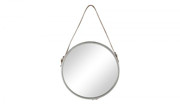 Spiegel mit Lederhenkel Spiegel mit Lederhenkel-Spiegel mit Lederhenkel-silber Breite: 41 cm Höhe: 69 cm silber